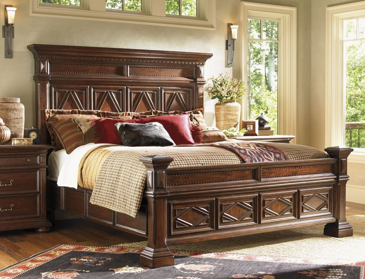 Fieldale lodge mahogany pine lakes poster bedroom set 01 for Mahogany bedroom furniture