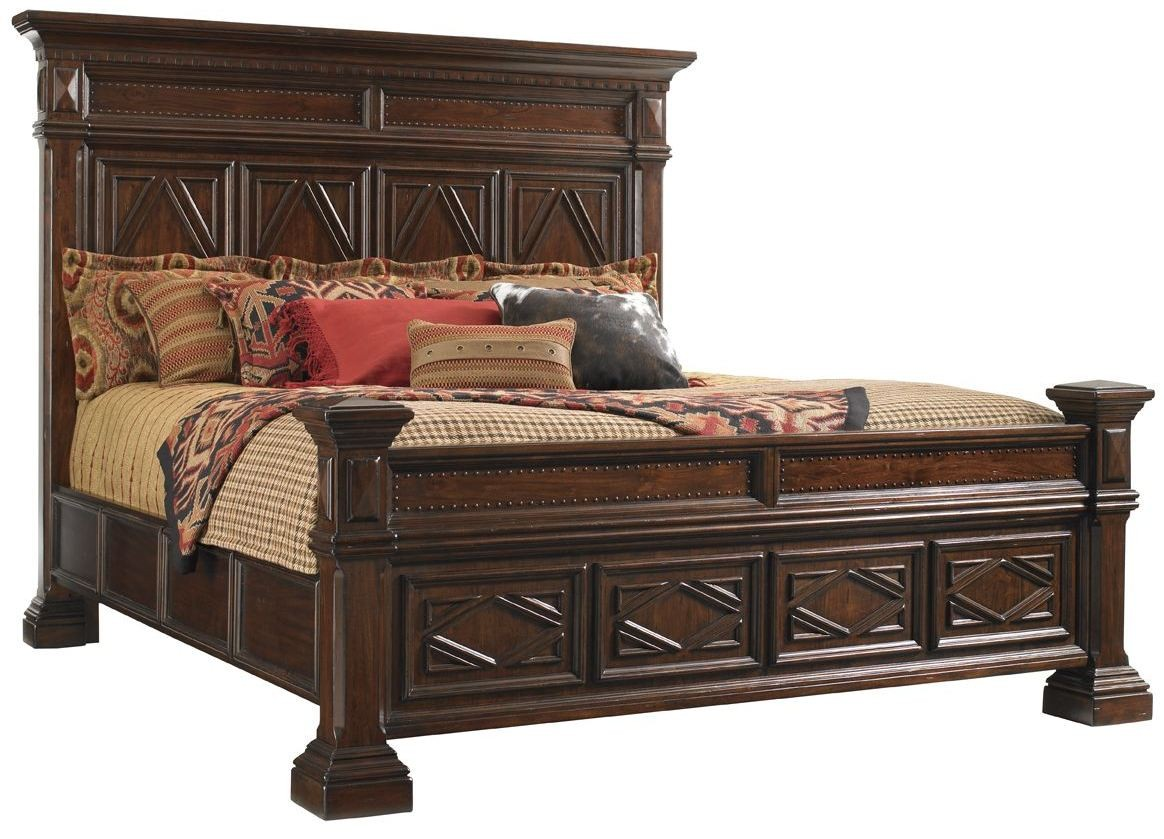 Bedroom Sets Fieldale Lodge Mahogany Pine Lakes Poster Bedroom Set