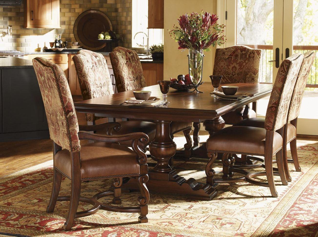 fieldale lodge mahogany silverton rectangular dining room