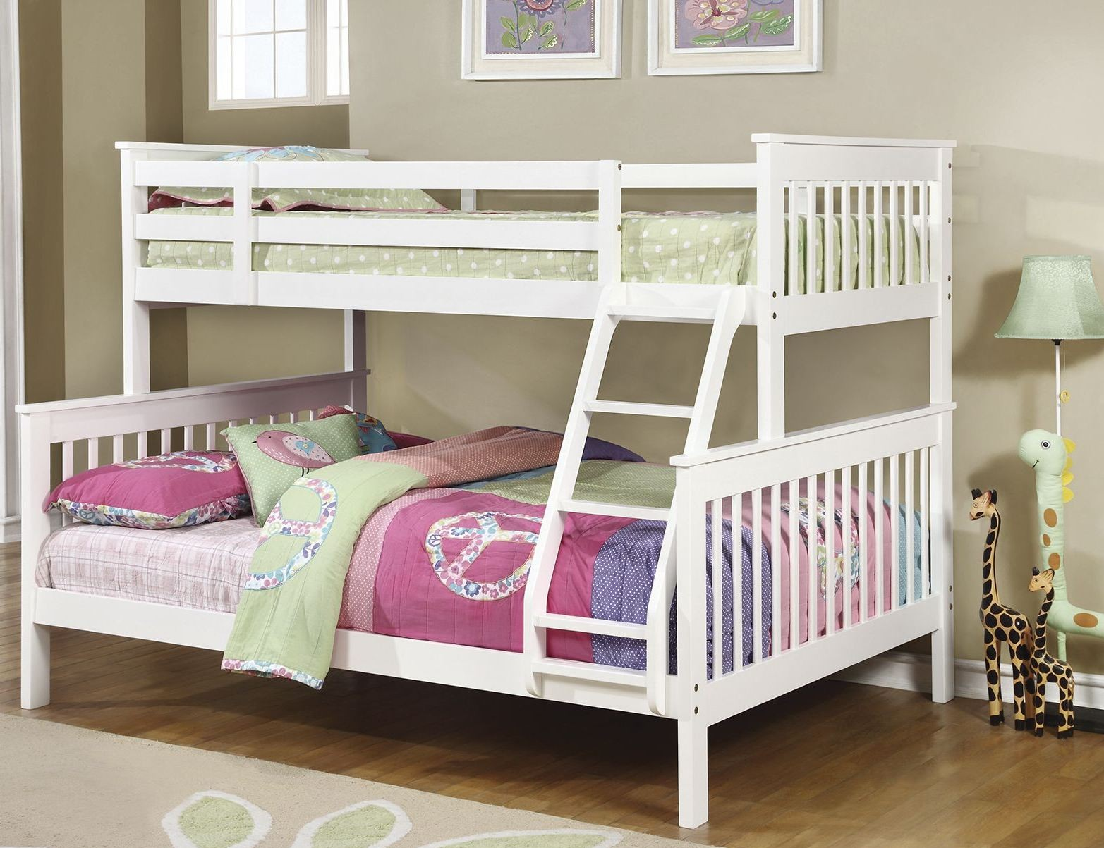 White Twin over Full Bunk Bed Coaster Furniture