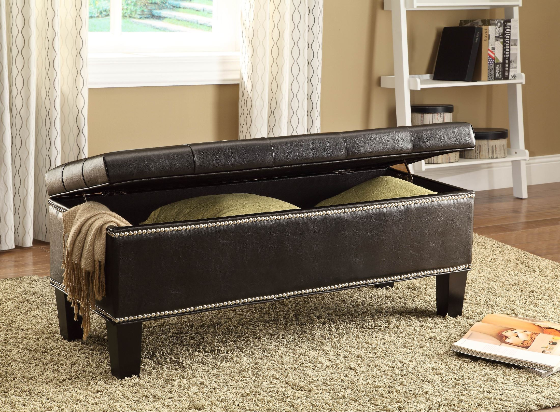 Reverie Lift Top Storage Bench From Homelegance 4602pu