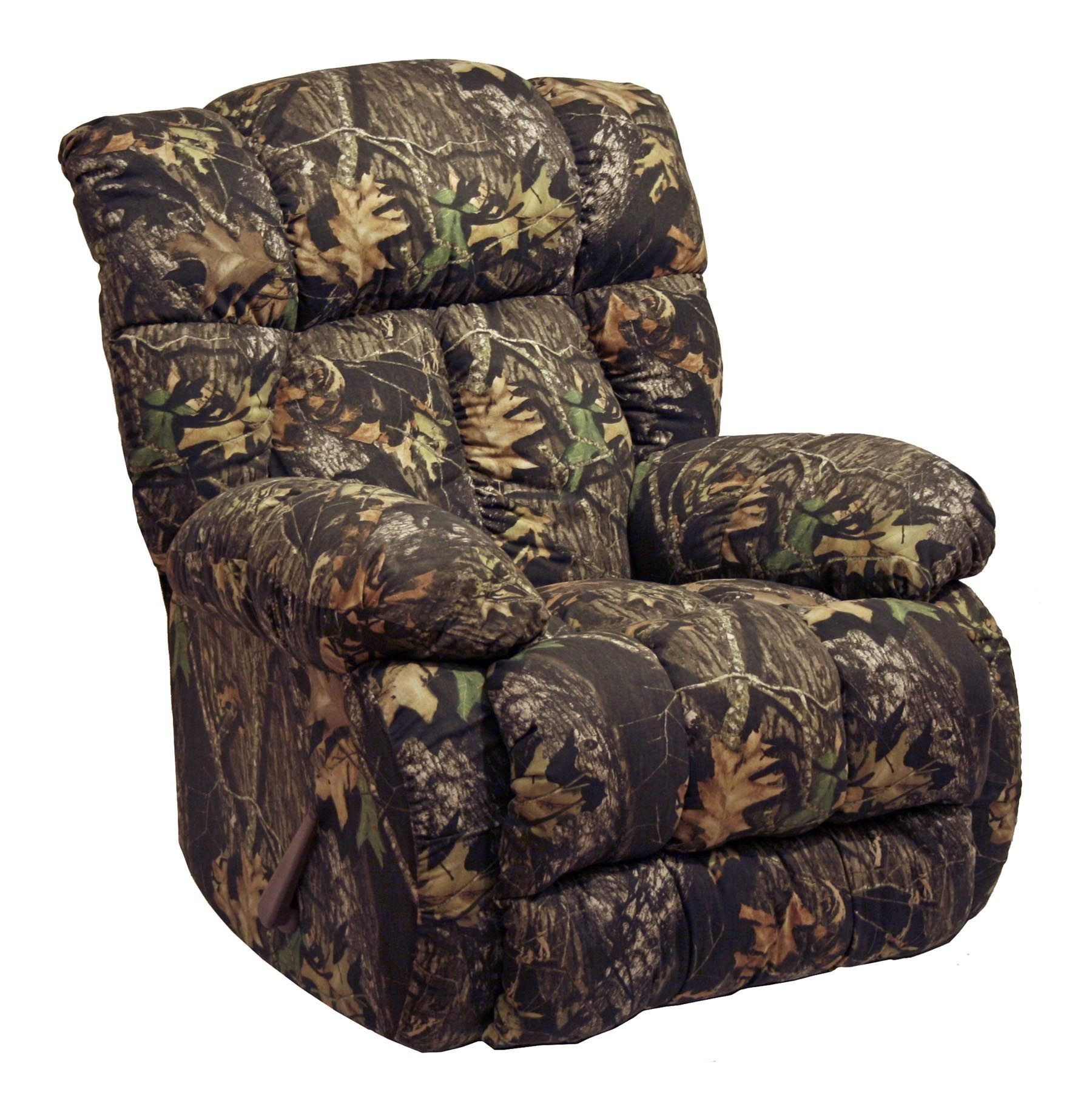 Laredo mossy oak camo rocker recliner from catnapper for Catnapper cloud nine chaise recliner
