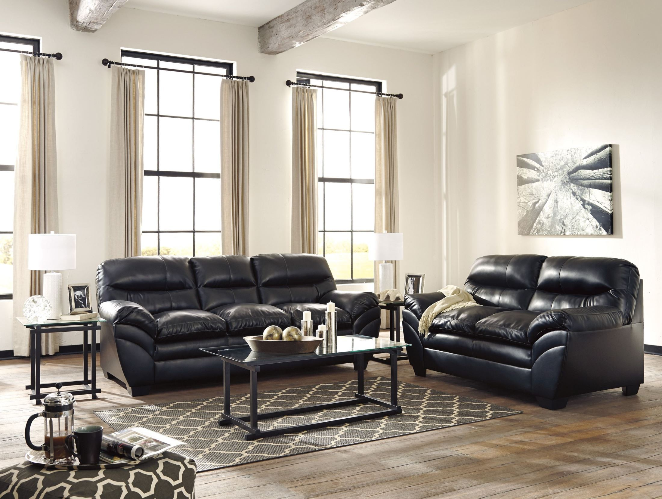 tassler durablend black living room set from ashley 4650138