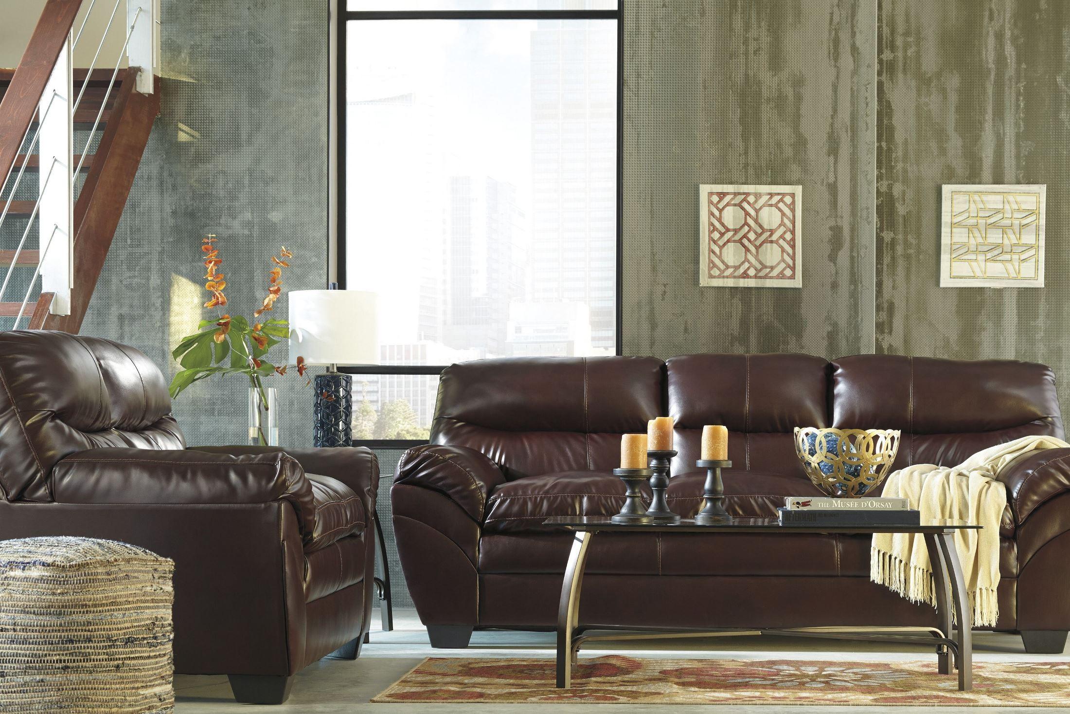Tassler Durablend Mahogany Living Room Set From Ashley 4650238 Coleman Furniture