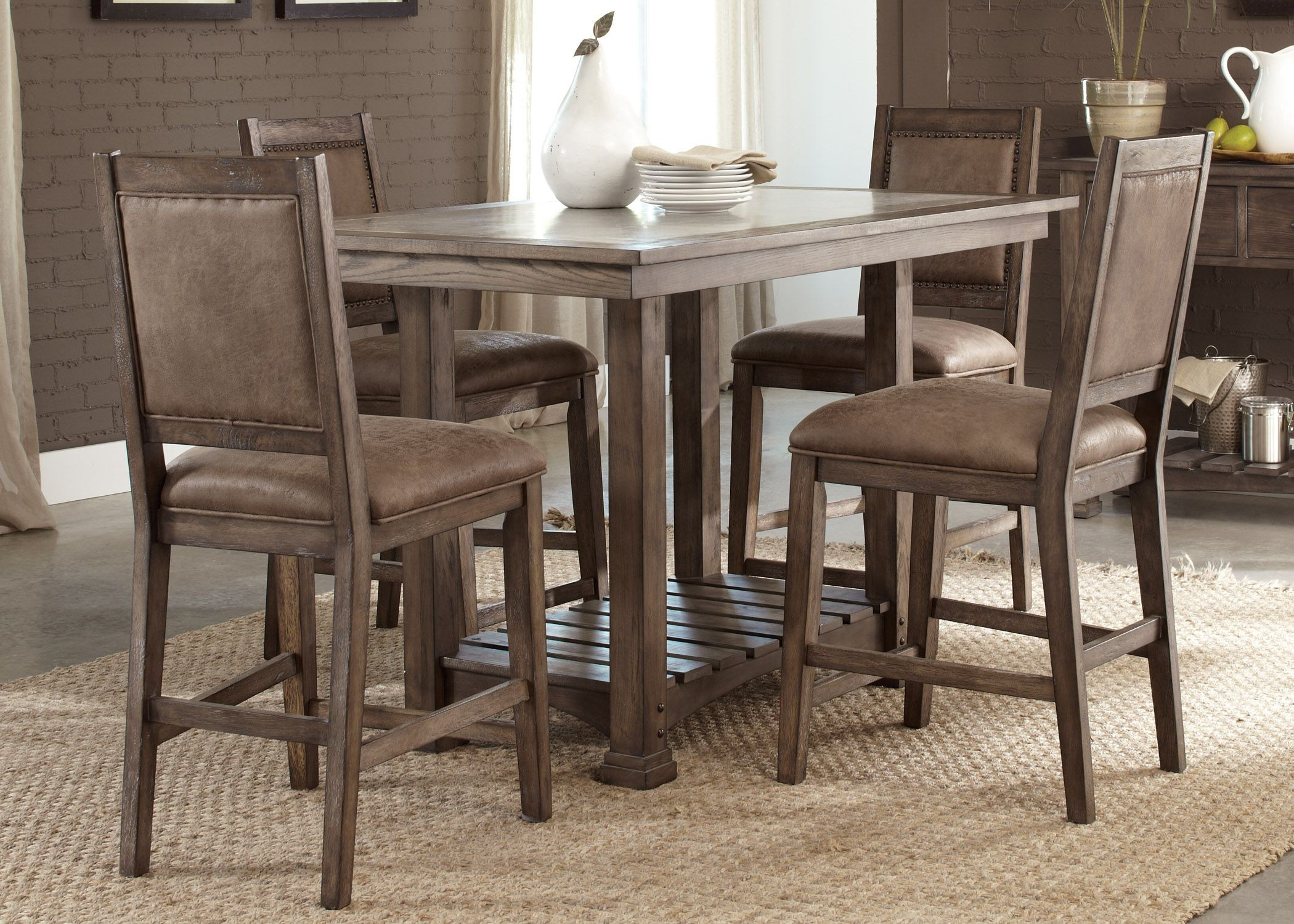 stone brook kitchen island dining room set from liberty kitchen island 5 pcs dining set table and 4 stools