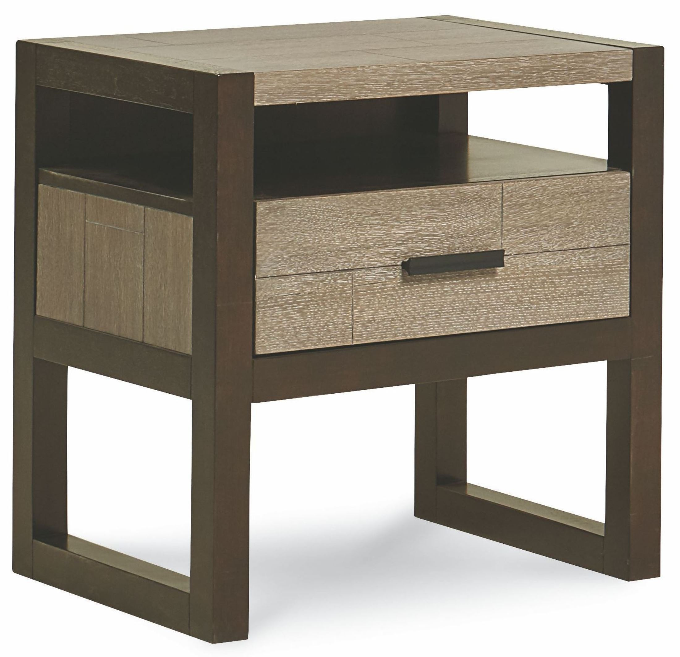 helix charcoal stone 1 drawer night stand 4660 3101. Black Bedroom Furniture Sets. Home Design Ideas