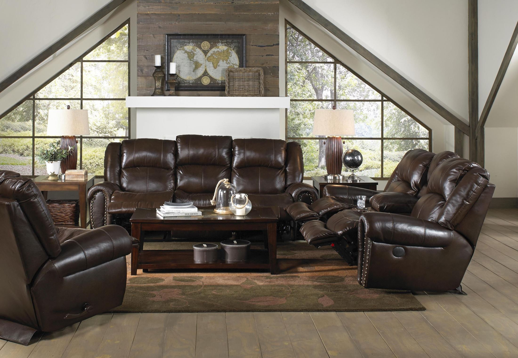 Jordan tobacco reclining living room set from catnapper for Jordan s furniture living room