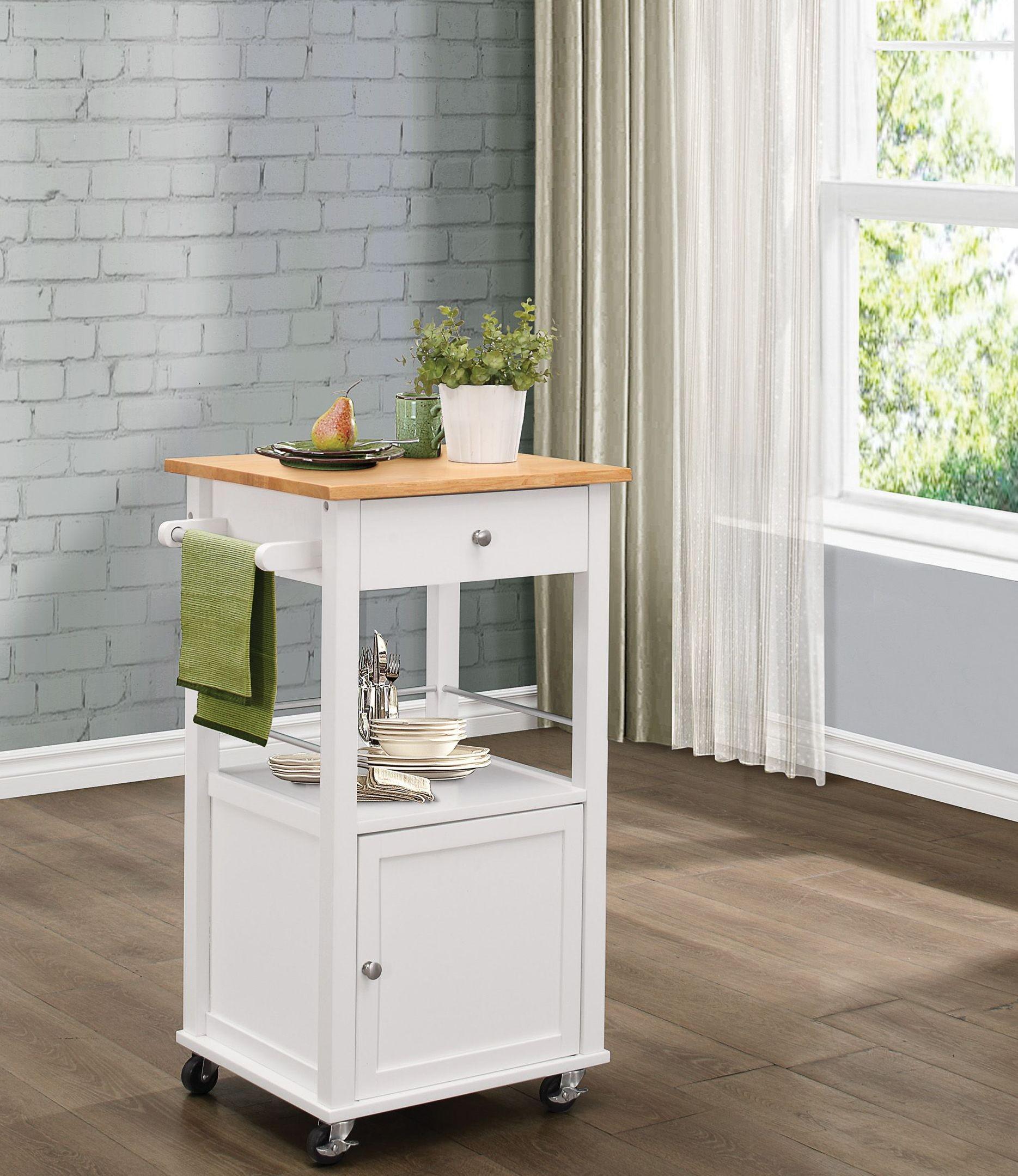 Kady White Kitchen Cart 4695wt 07 Homelegance