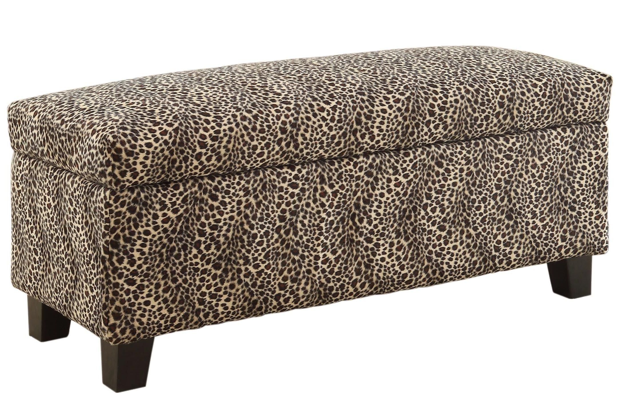 Clair Lift Top Leopard Storage Bench From Homelegance 471lp Coleman Furniture