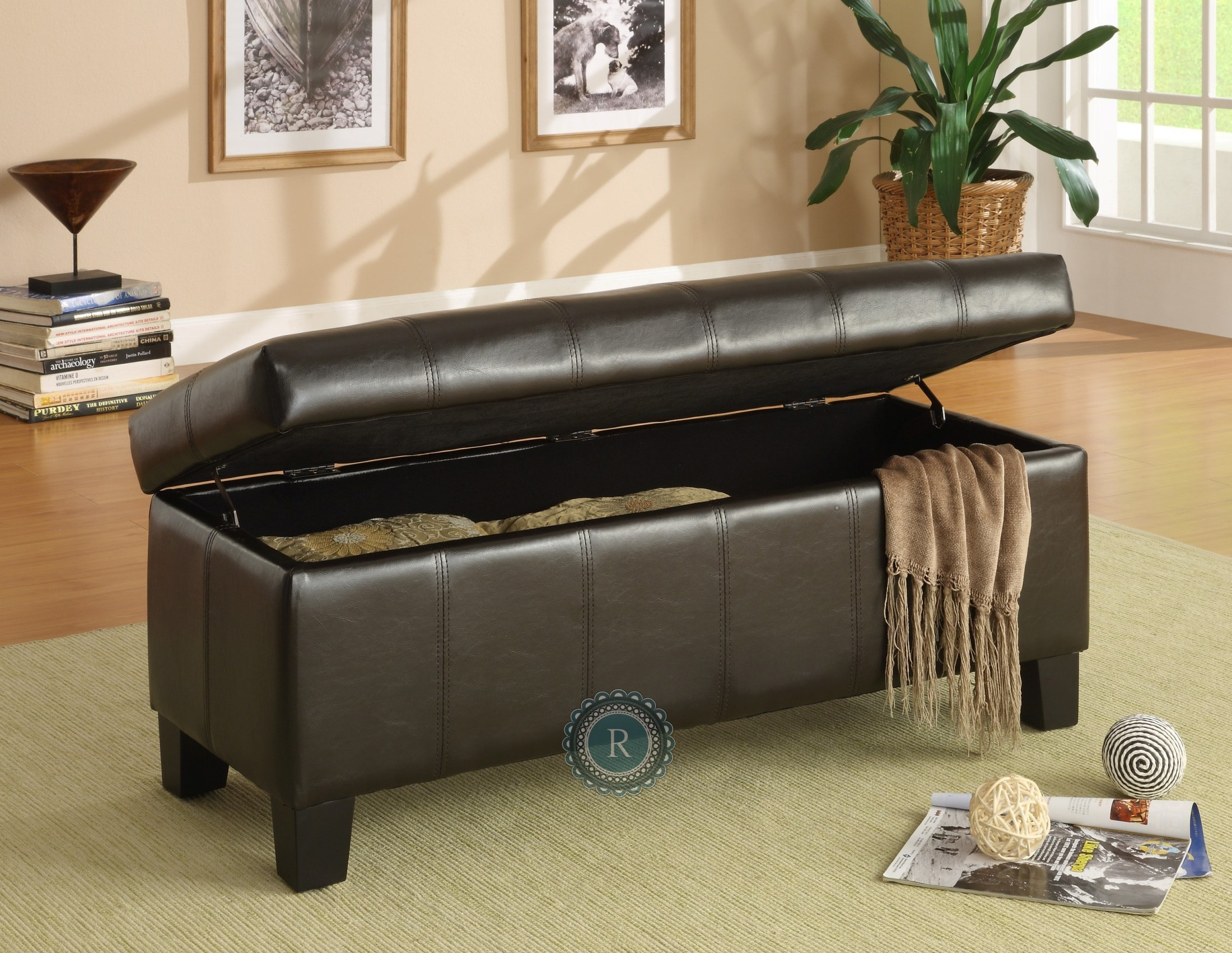 Claire Lift Top Storage Bench From Homelegance 471pu