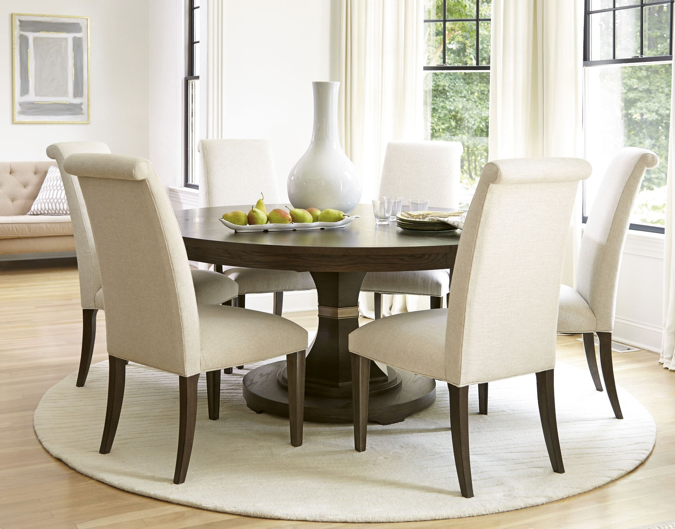 California round dining room set from universal 475657 coleman furniture - Universal furniture dining room set ...
