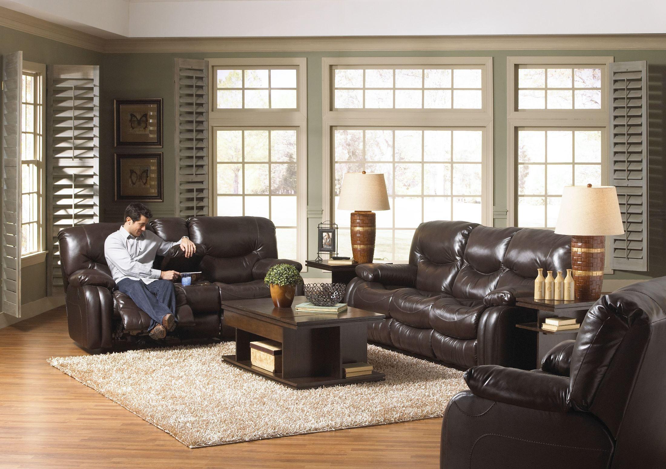 Arlington Mahogany Reclining Living Room Set From