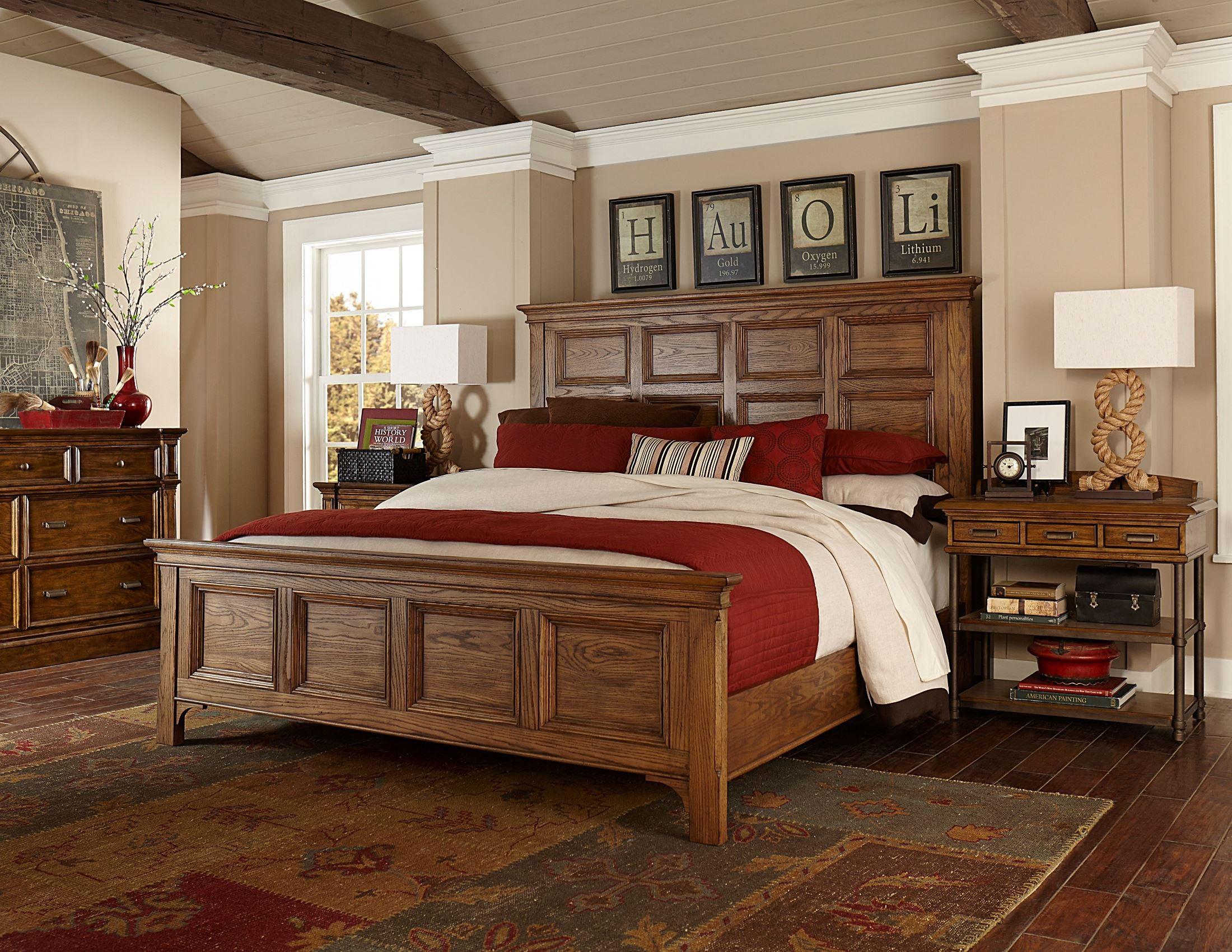 new vintage brown panel bedroom set from broyhill 4808 270 271 480 coleman furniture. Black Bedroom Furniture Sets. Home Design Ideas