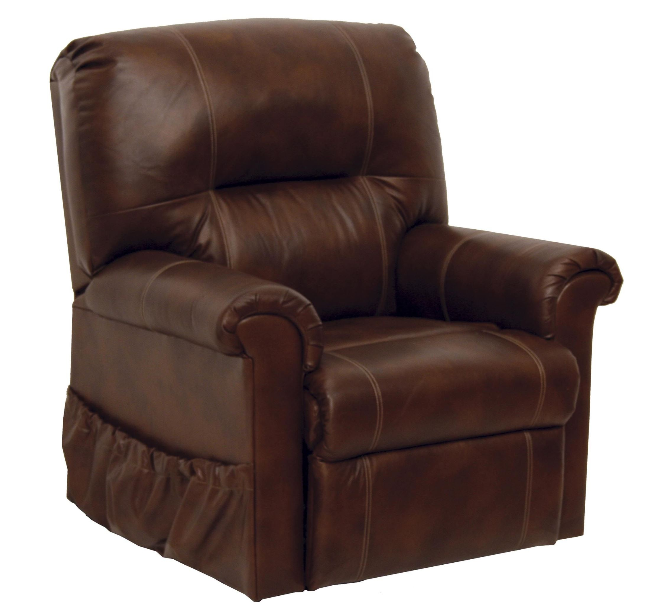 vintage tobacco leather power lift chair from catnapper