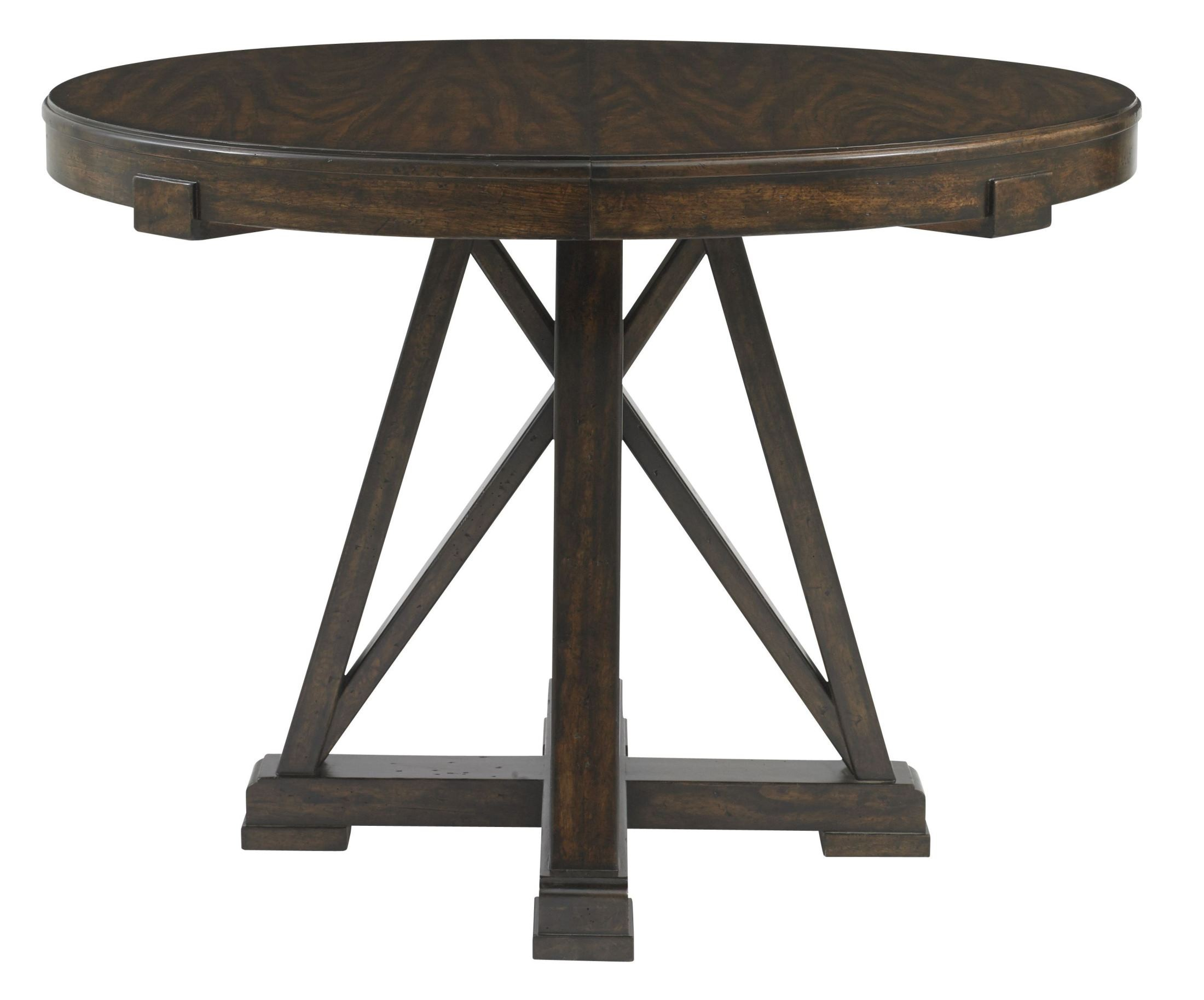 Newel Date Round Pedestal Extendable Dining Table 484 11 30 Stanley