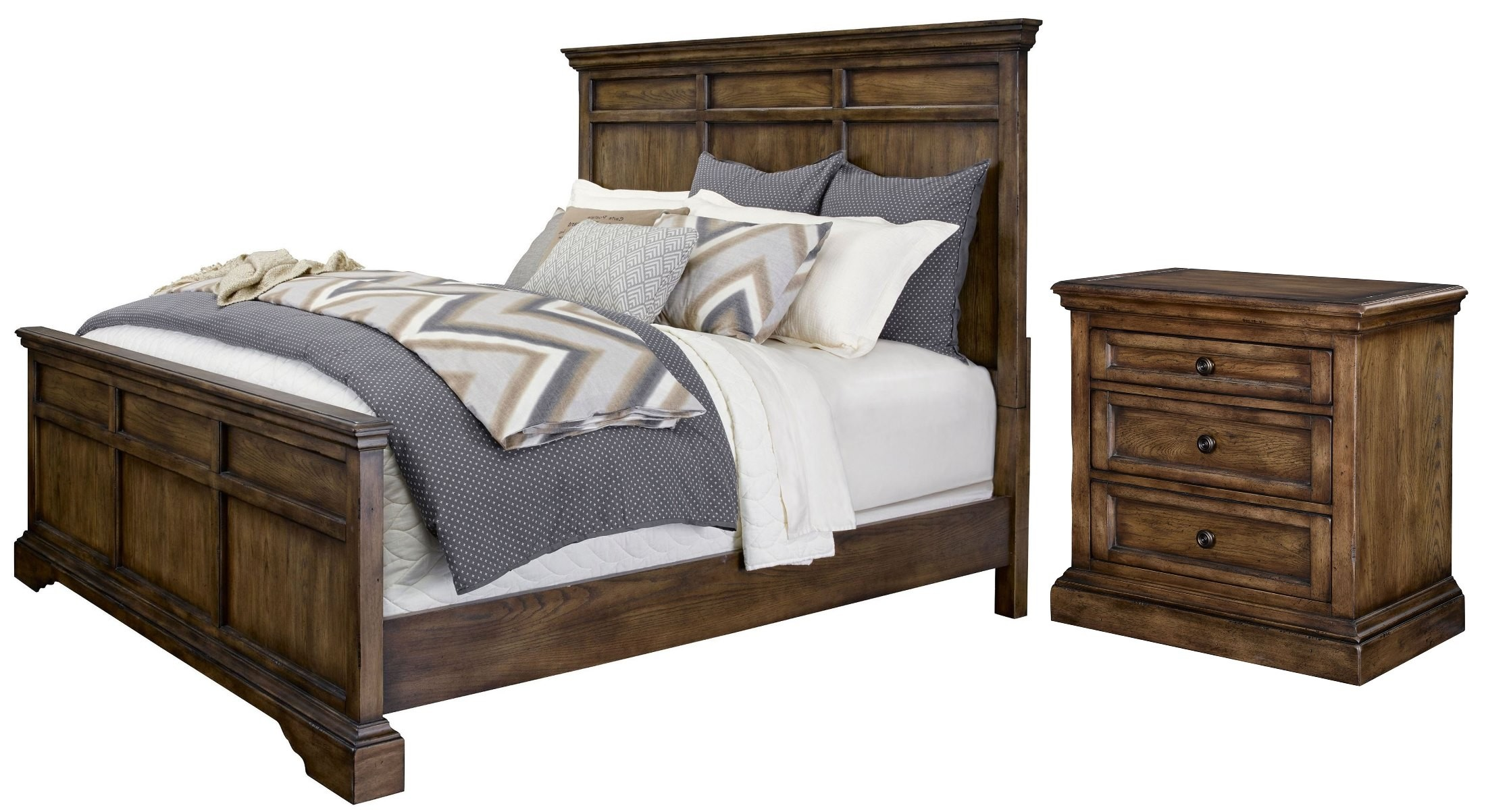 Square Bedroom Furniture ~ Larimer square panel bedroom set  broyhill