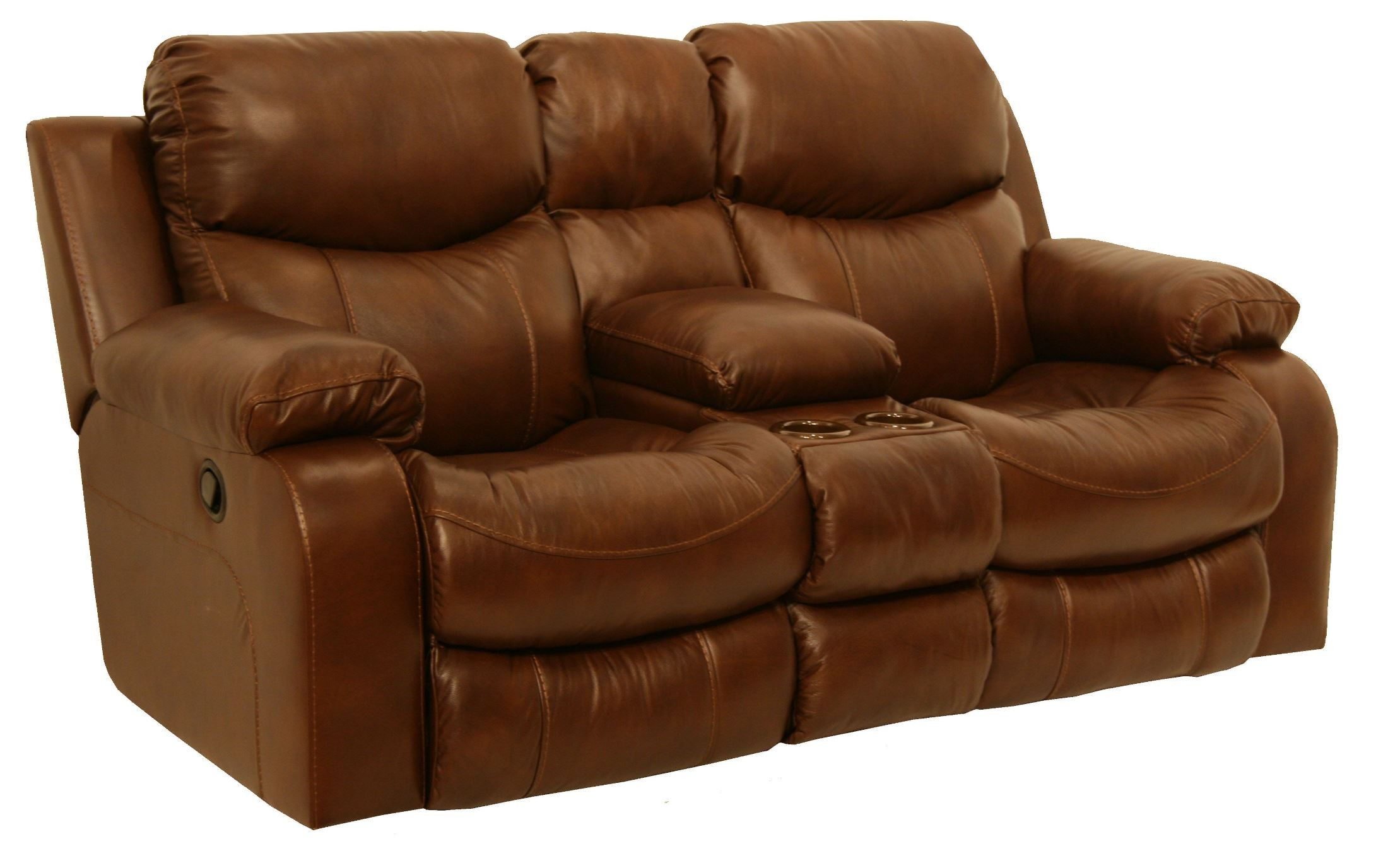 Dallas Tobacco Reclining Loveseat With Console From Catnapper 4959120000000000 Coleman Furniture