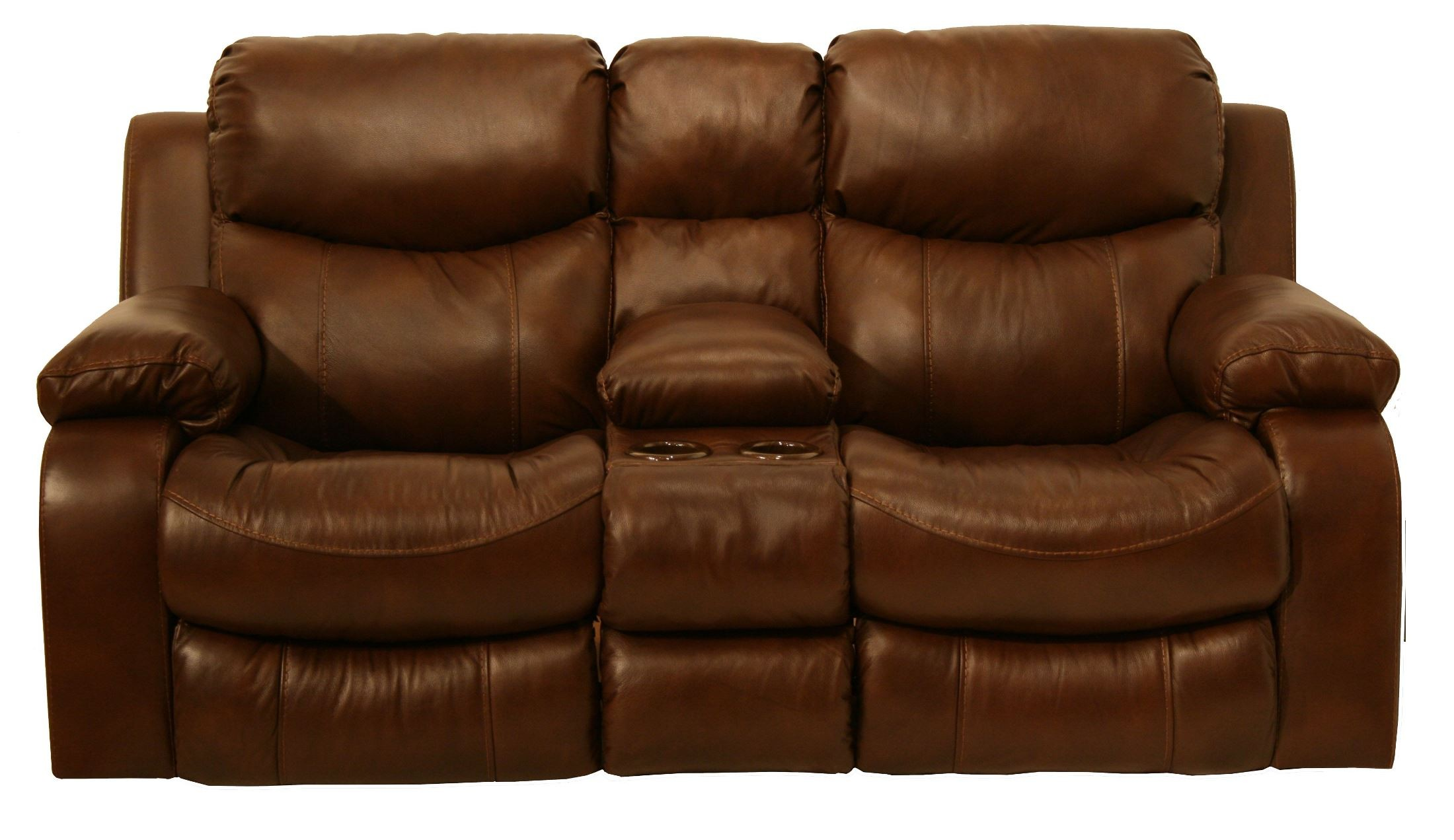 Dallas Tobacco Power Reclining Loveseat With Console From Catnapper 64959100000000000