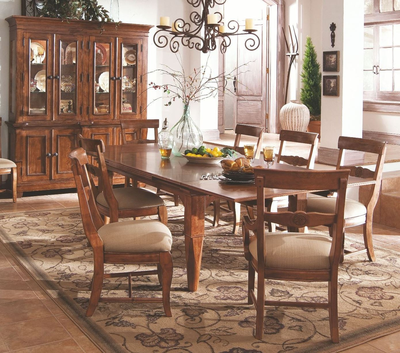 tuscan dining room set antique white dining roo