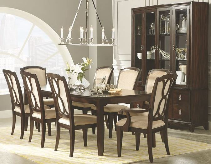 sophia rectangular extendable leg dining room set from legacy classic