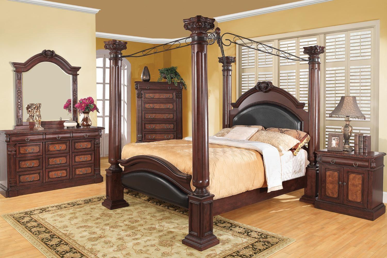 grand prado king poster bed from coaster 202201ke