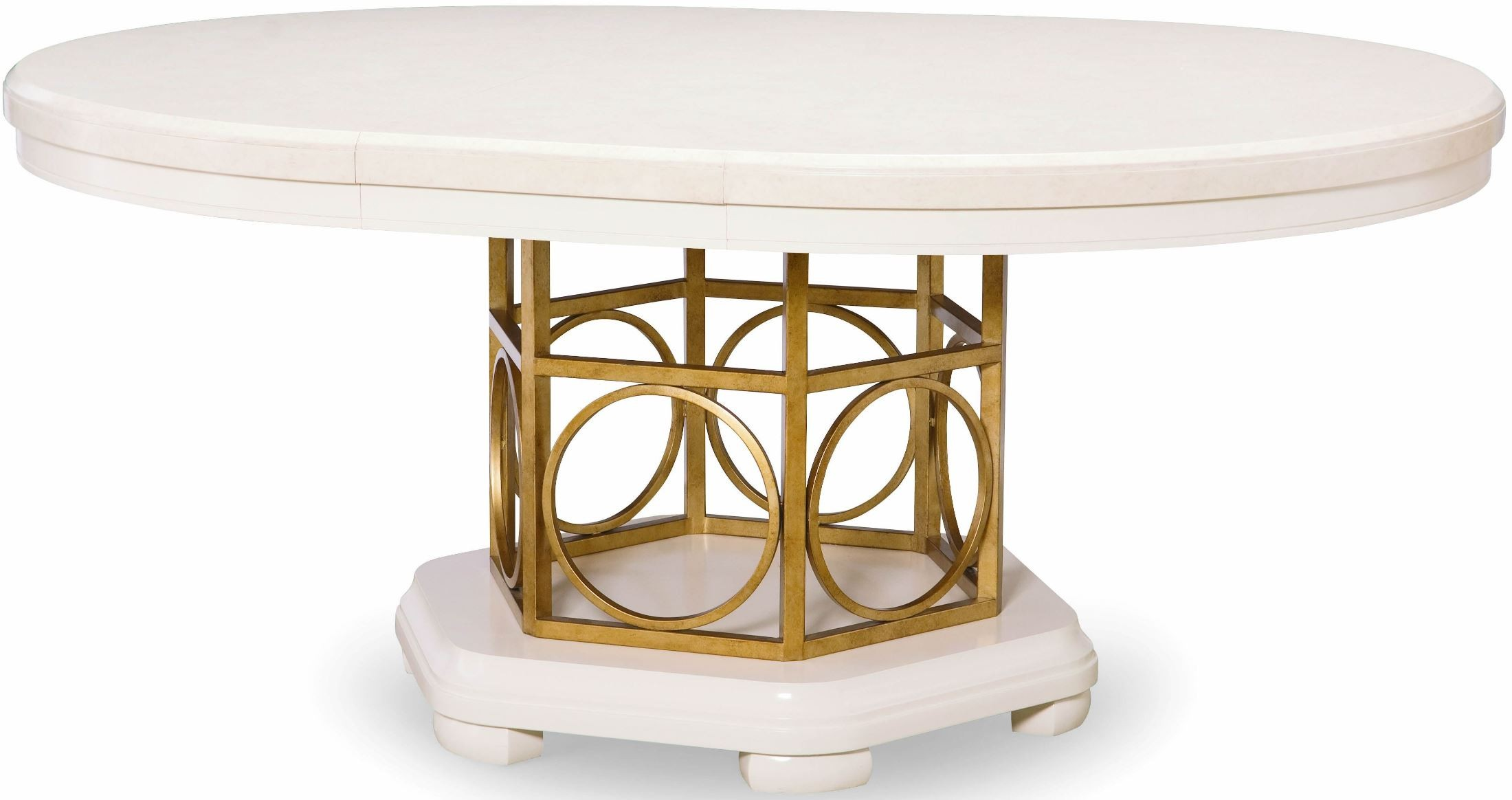 tower suite pearl extendable round pedestal dining table from legacy