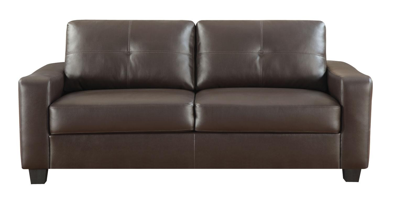 Jasmine Brown Bonded Leather Living Room Set From Coaster 5027 Coleman Furniture