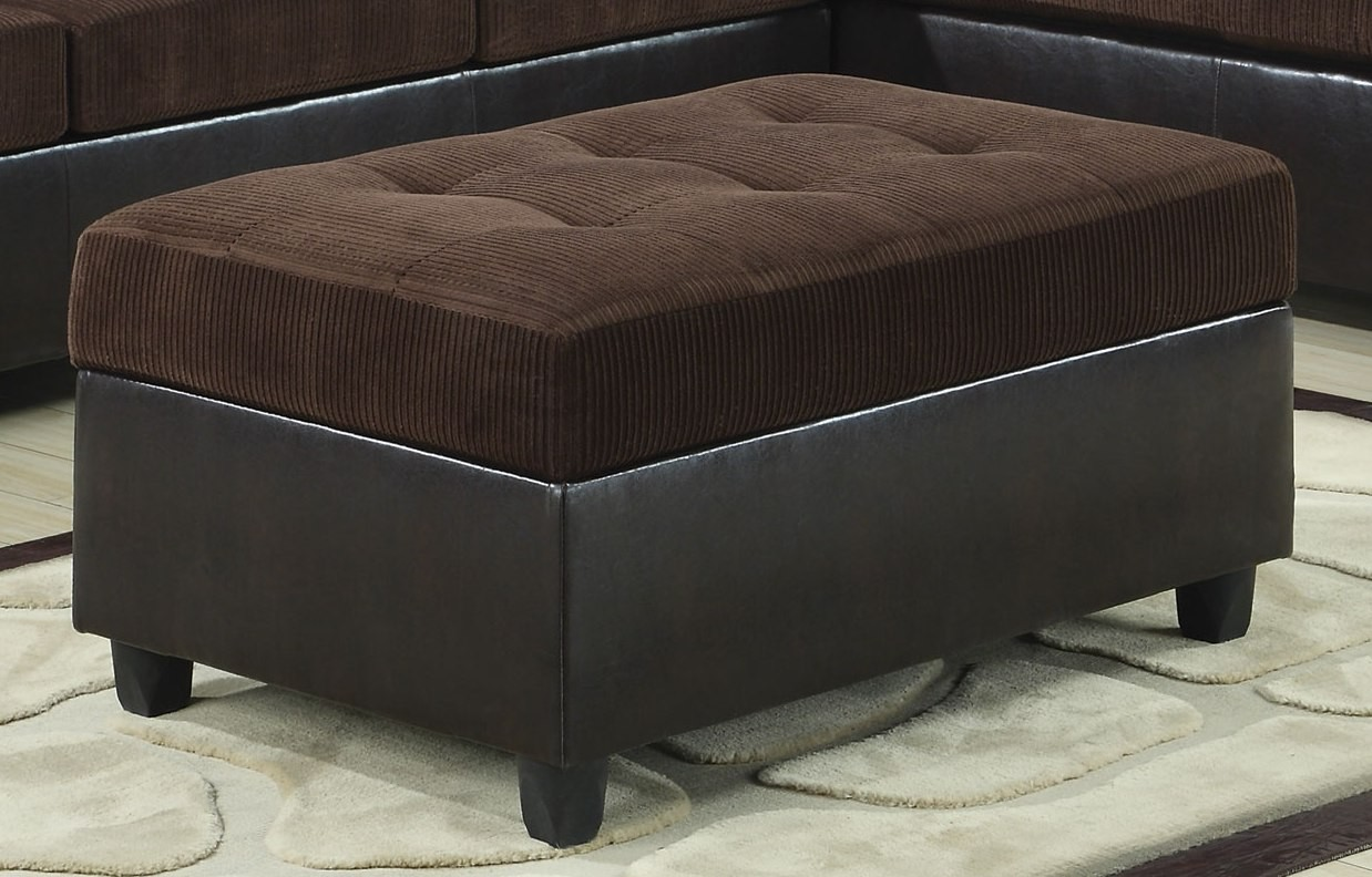 henri chocolate dark brown storage ottoman 503014