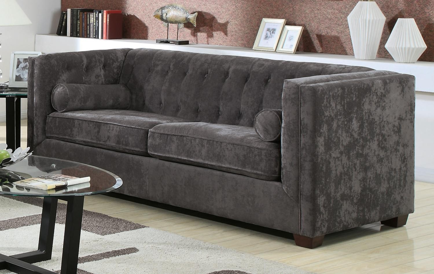 Alexis Charcoal Sofa From Coaster 504491 Coleman Furniture