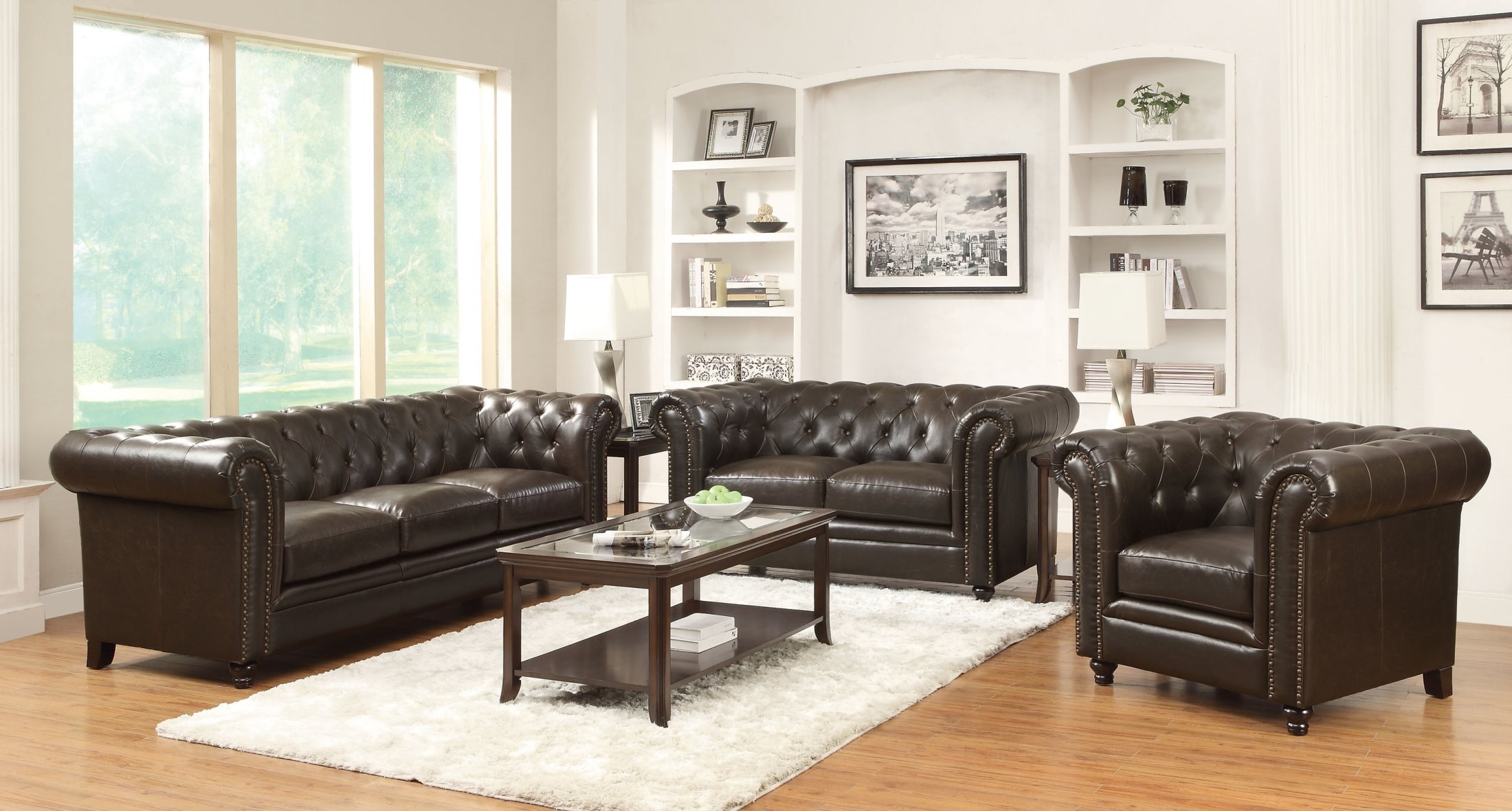 Roy brown living room set from coaster 504551 2 for Brown living room set