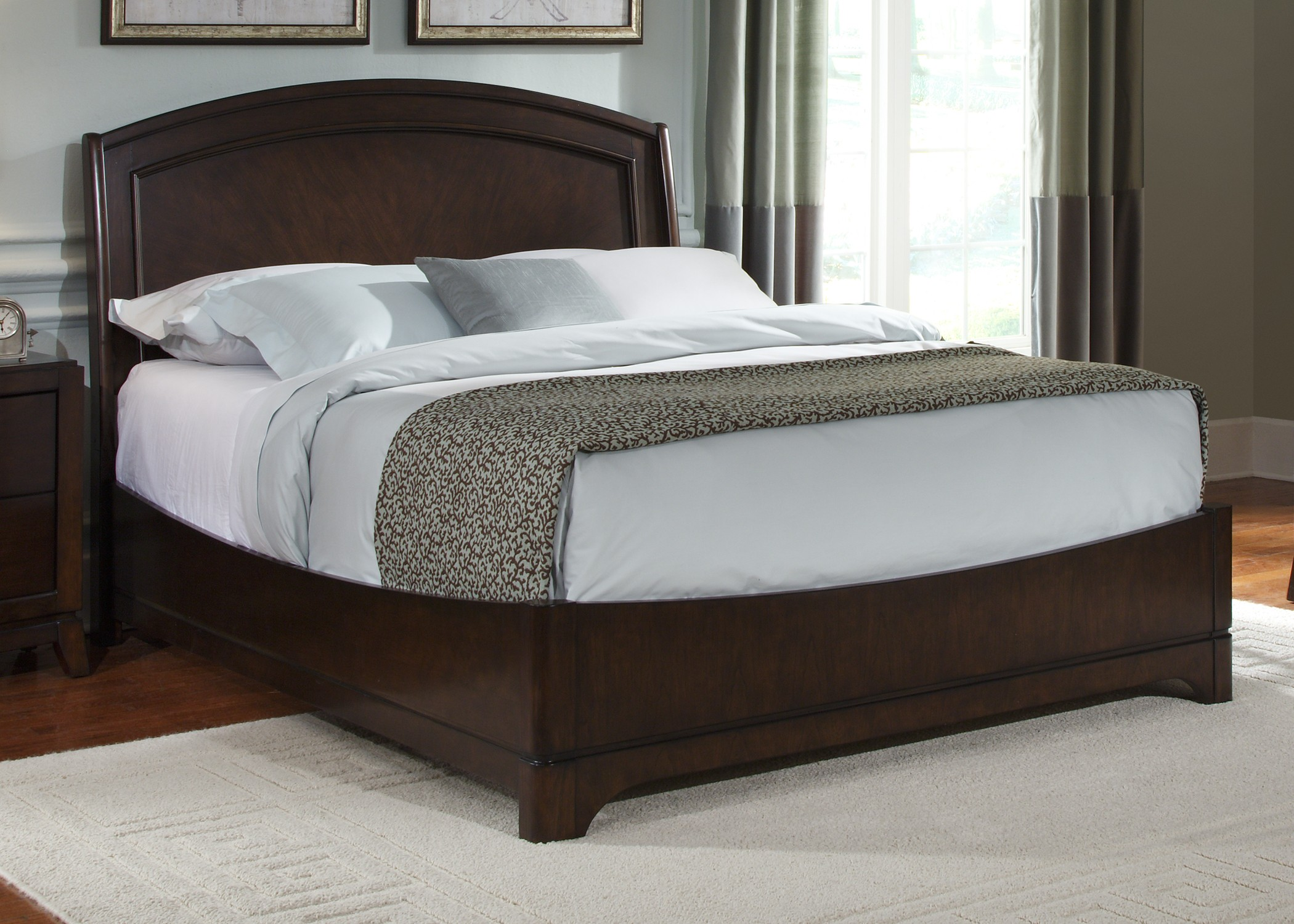 avalon platform bedroom set from liberty 505 br qpl coleman