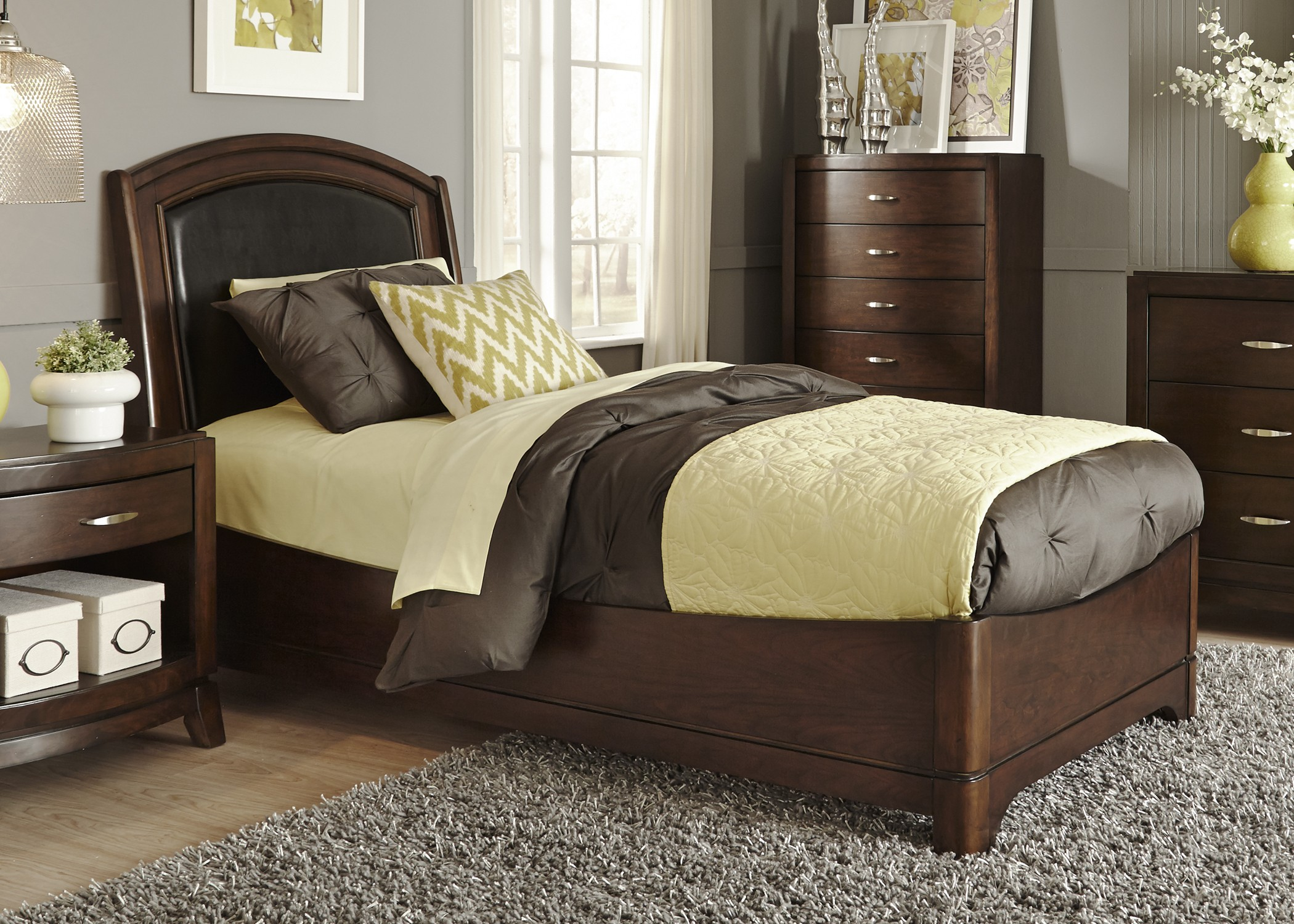 avalon truffle youth leather bedroom set from liberty 505