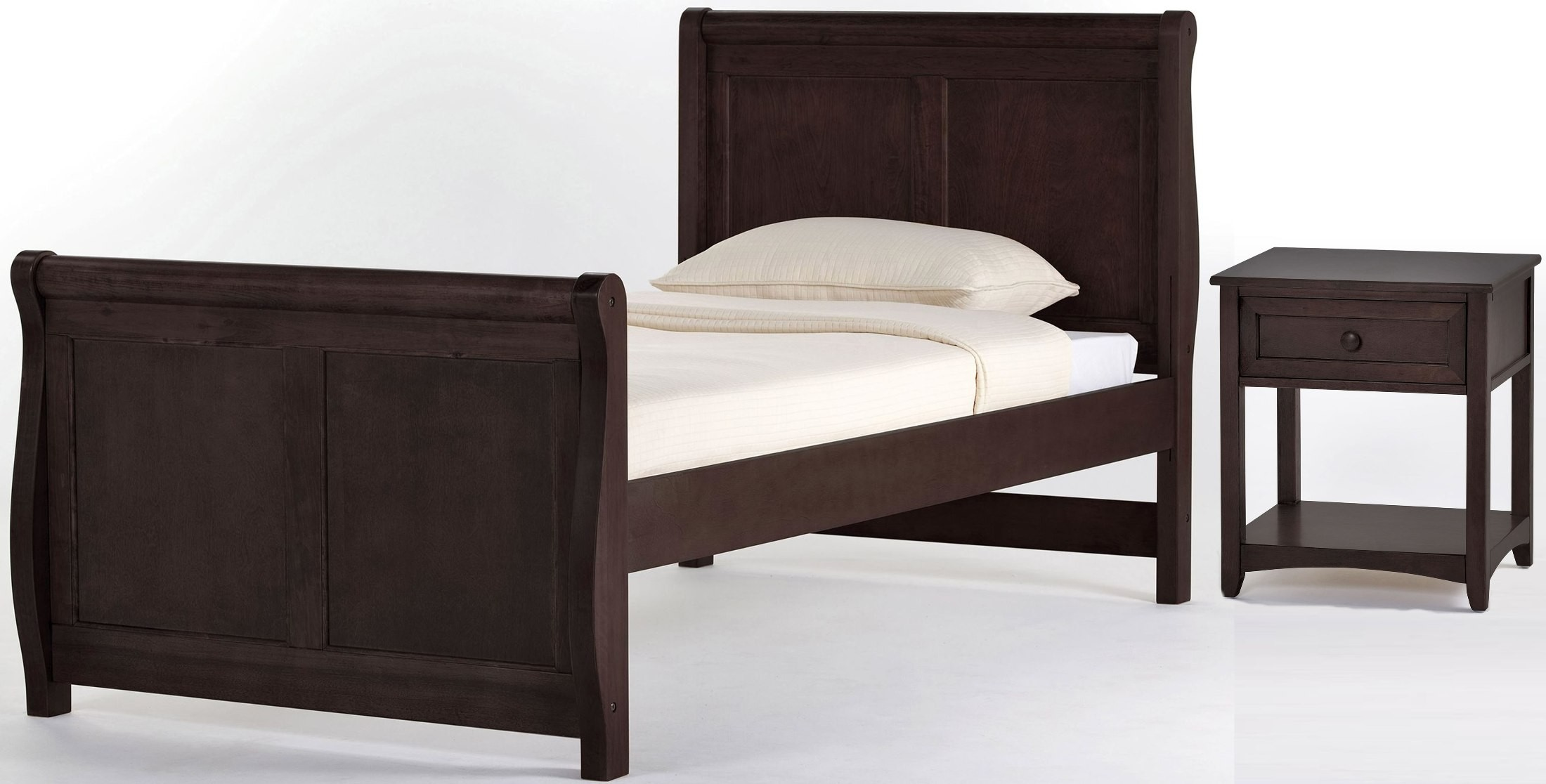 School House Chocolate Twin Sleigh Bed 5050n Ne Kids