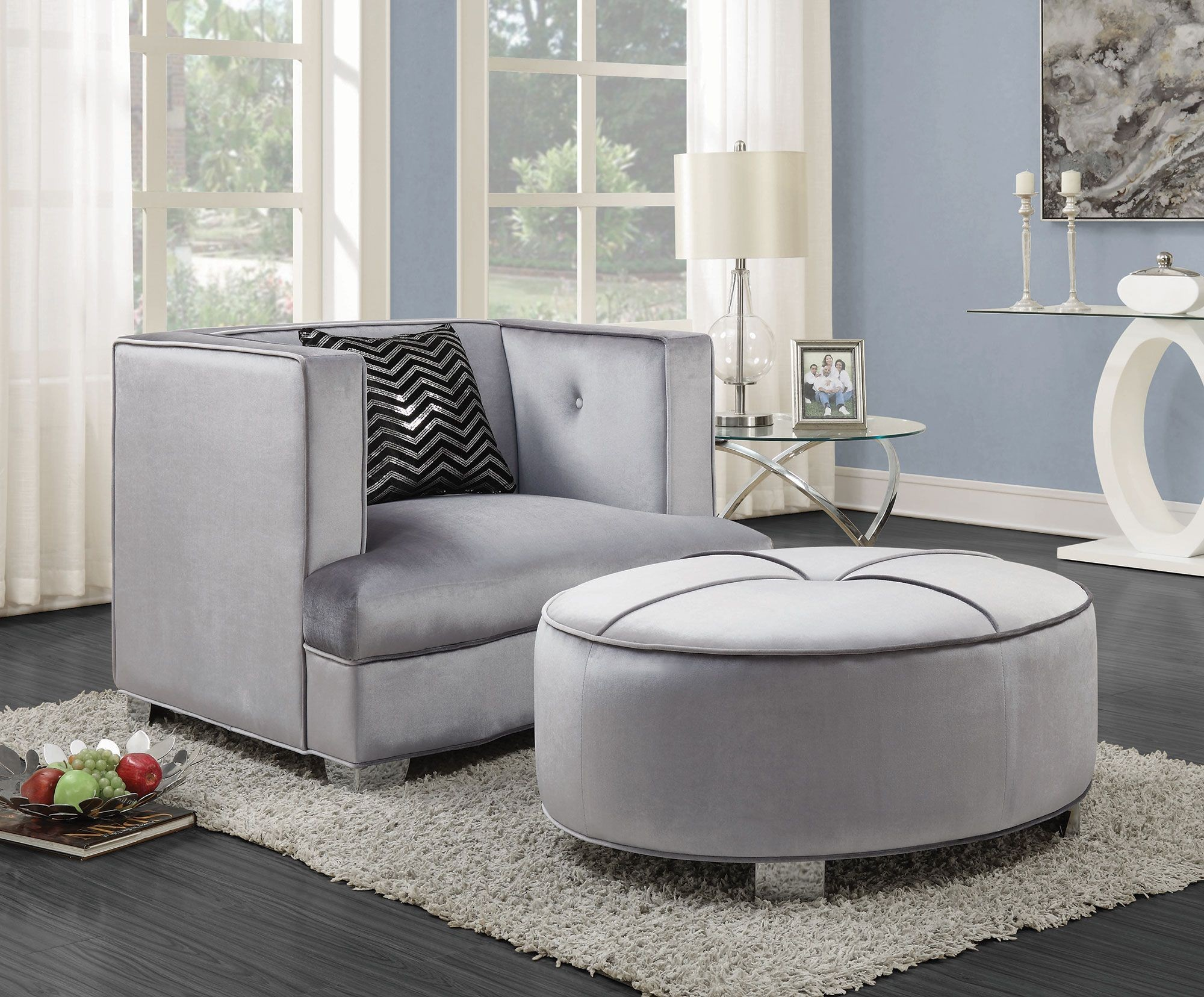 Caldwell Silver Living Room Set From Coaster 505881 Coleman Furniture