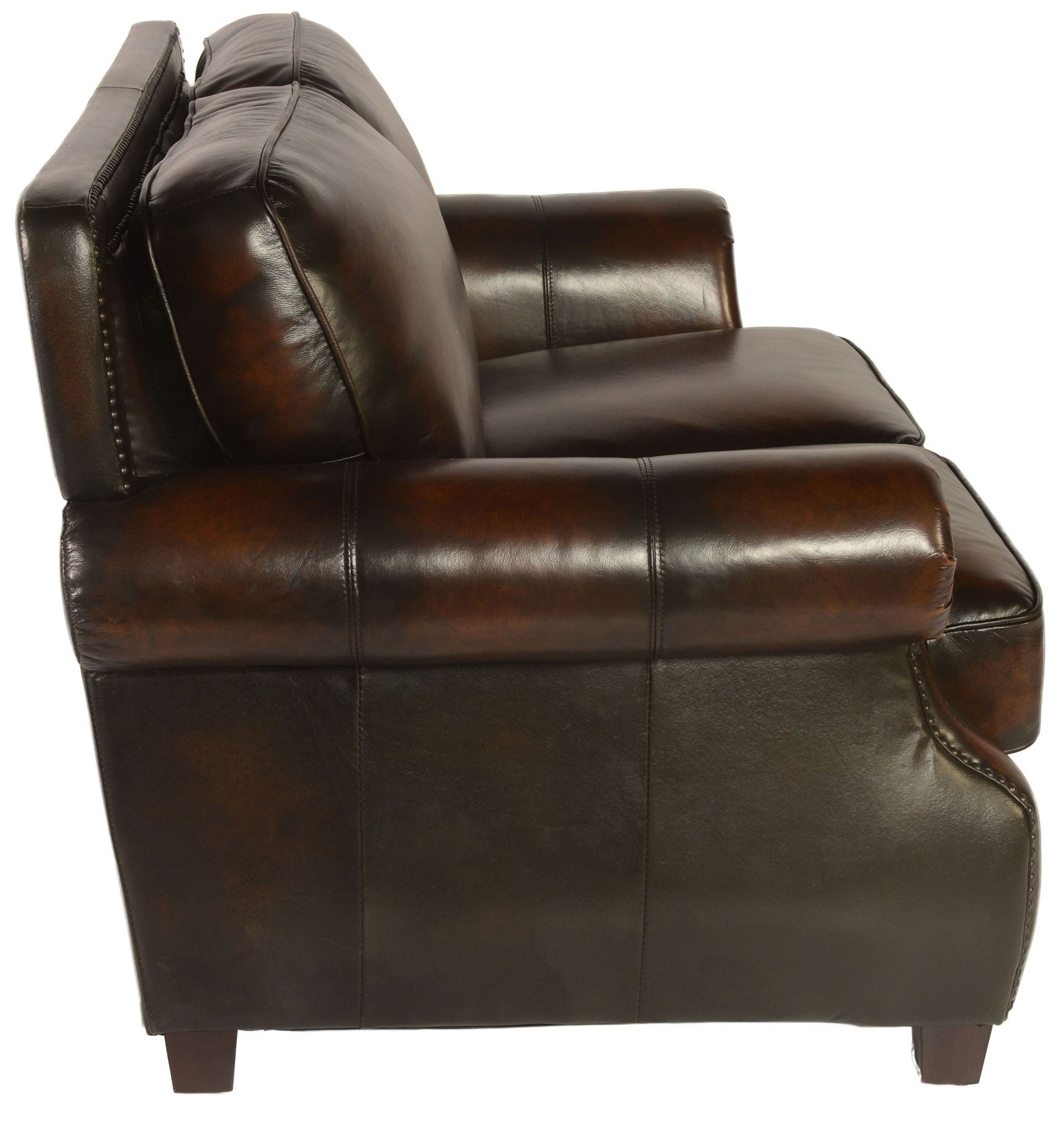 Prato Black Tan Leather Loveseat From Lazzaro Wh 5070 20 3358b Coleman Furniture