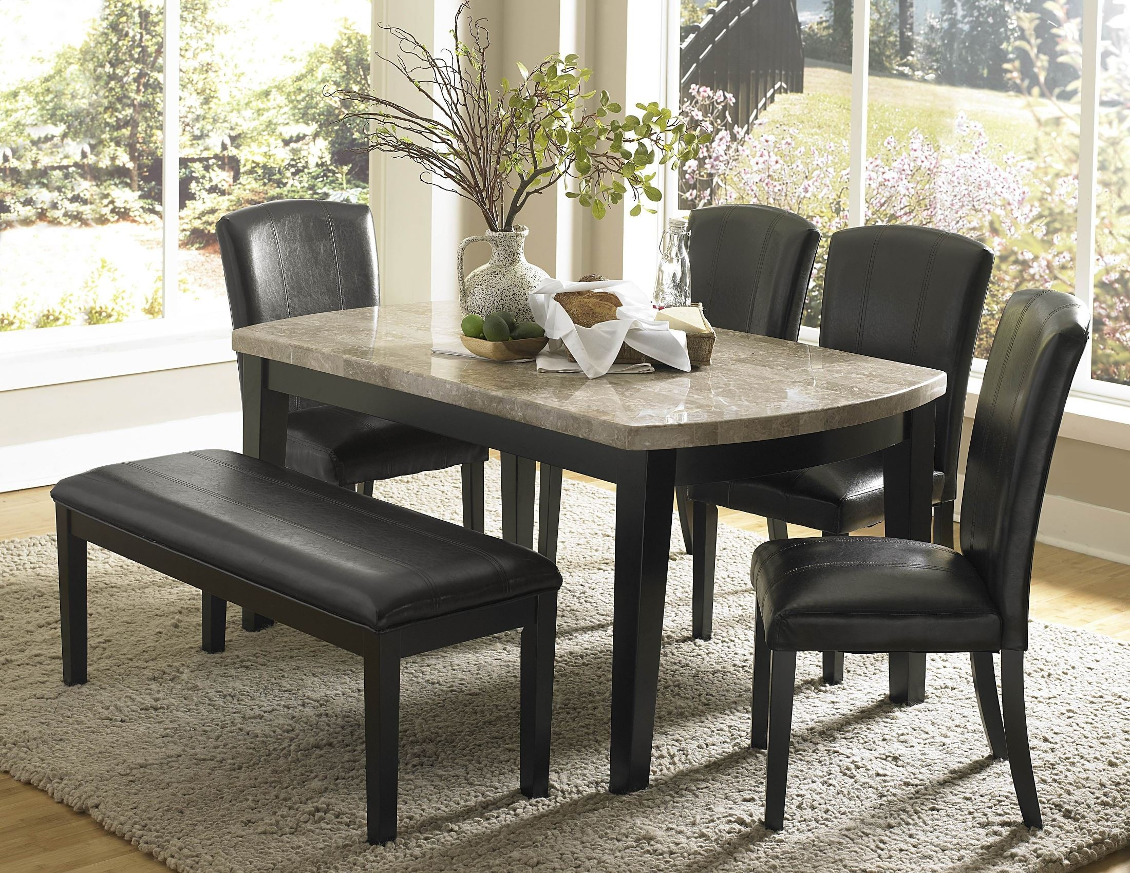 cristo marble top dining room set from homelegance 5070 64 coleman