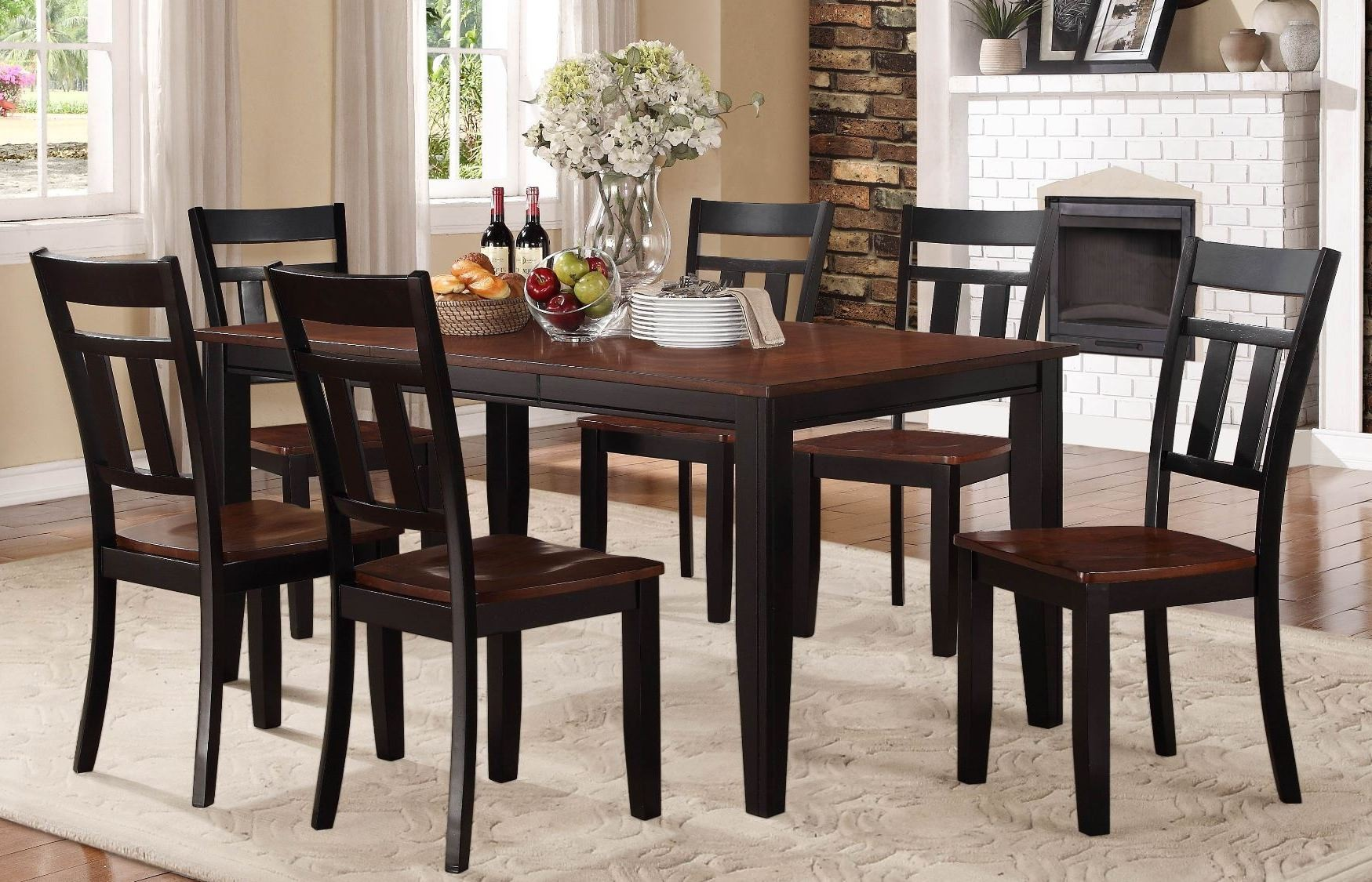 Westport Extendable Dining Room Set From Homelegance 5079BK 66 Coleman Fu