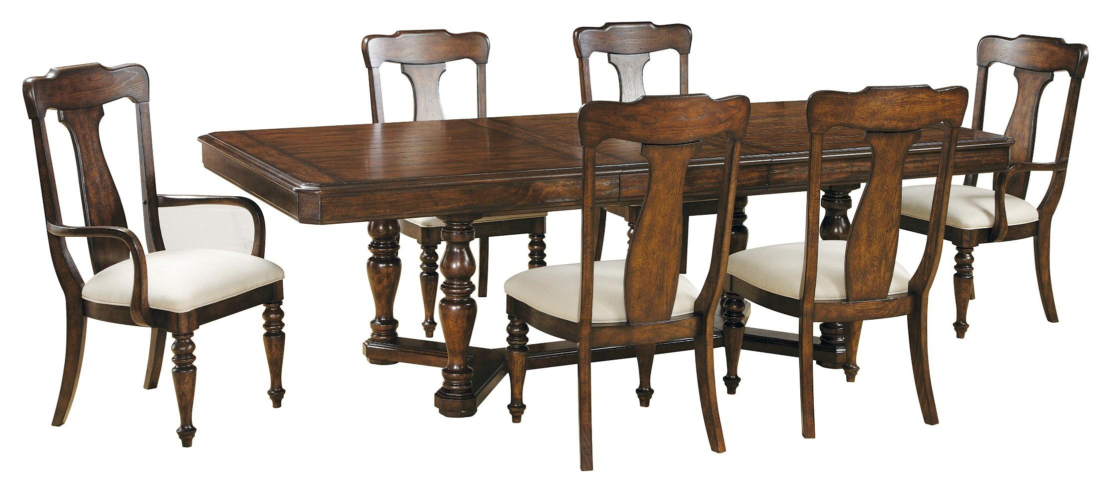 Saddle Ridge Rectangular Dining Room Set 508240 Pulaski Furniture