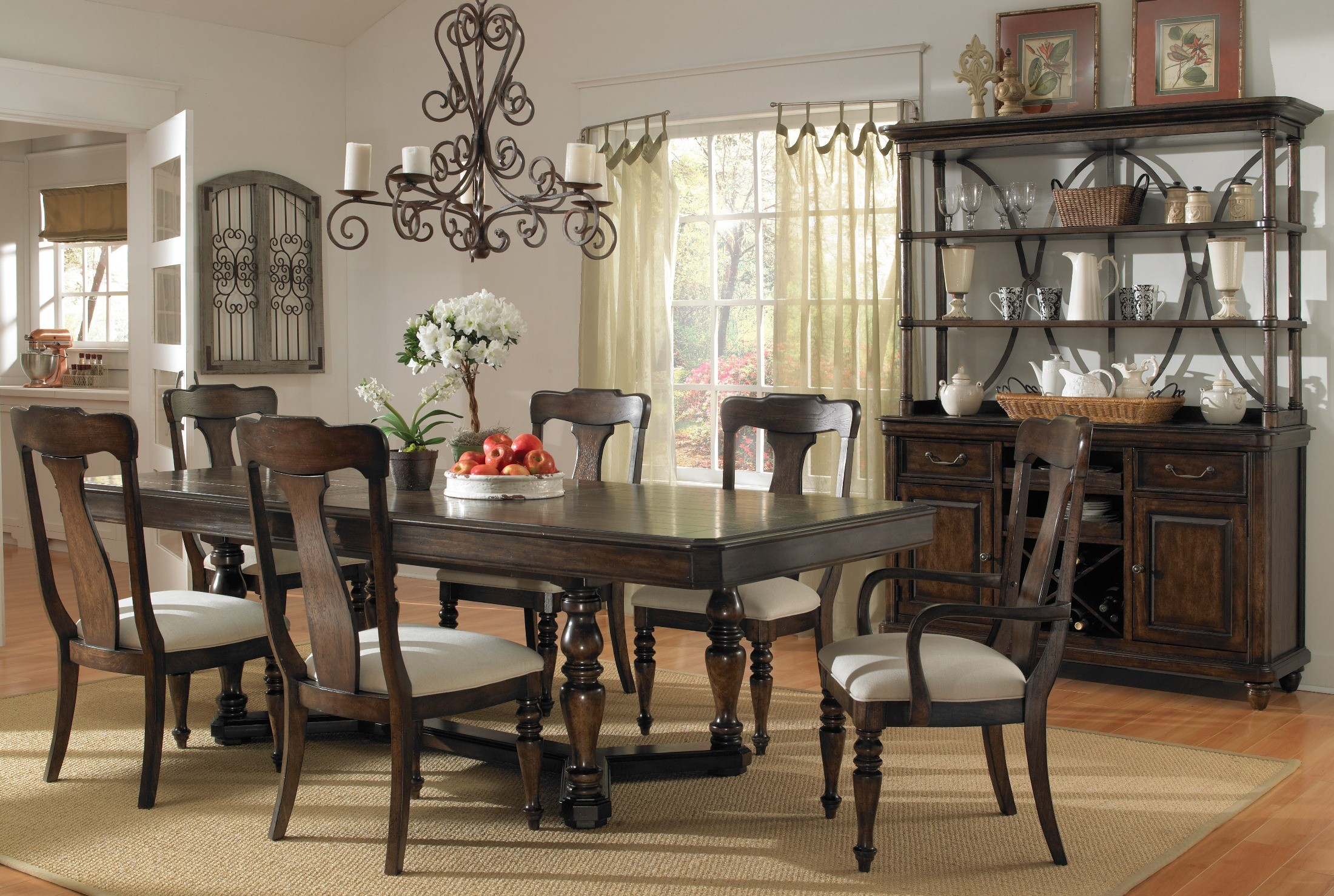 saddle ridge rectangular dining room set 508240 pulaski