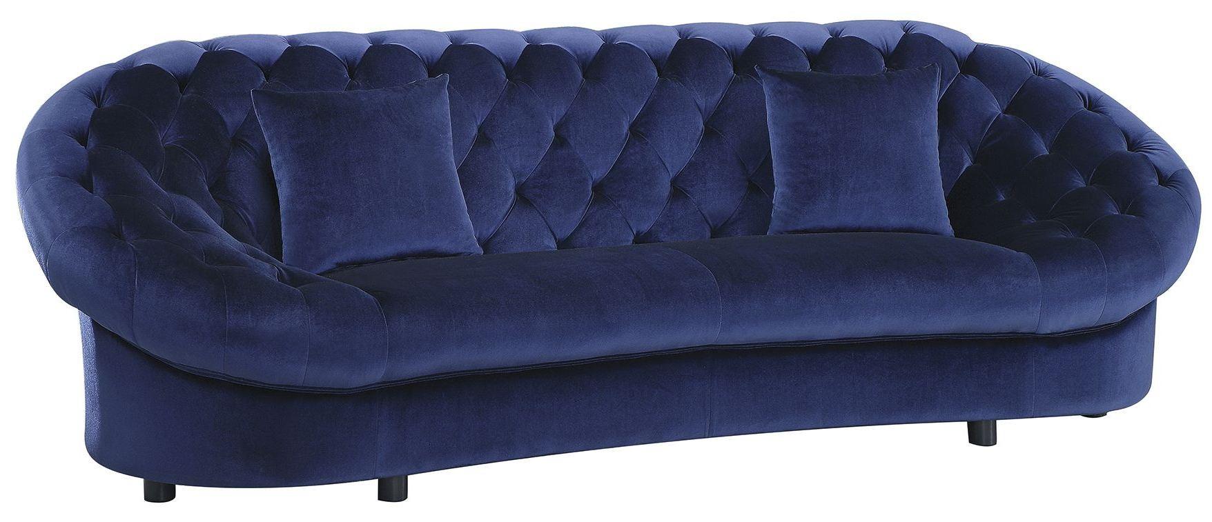 Romanus Royal Blue Velvet Sofa Coaster Furniture