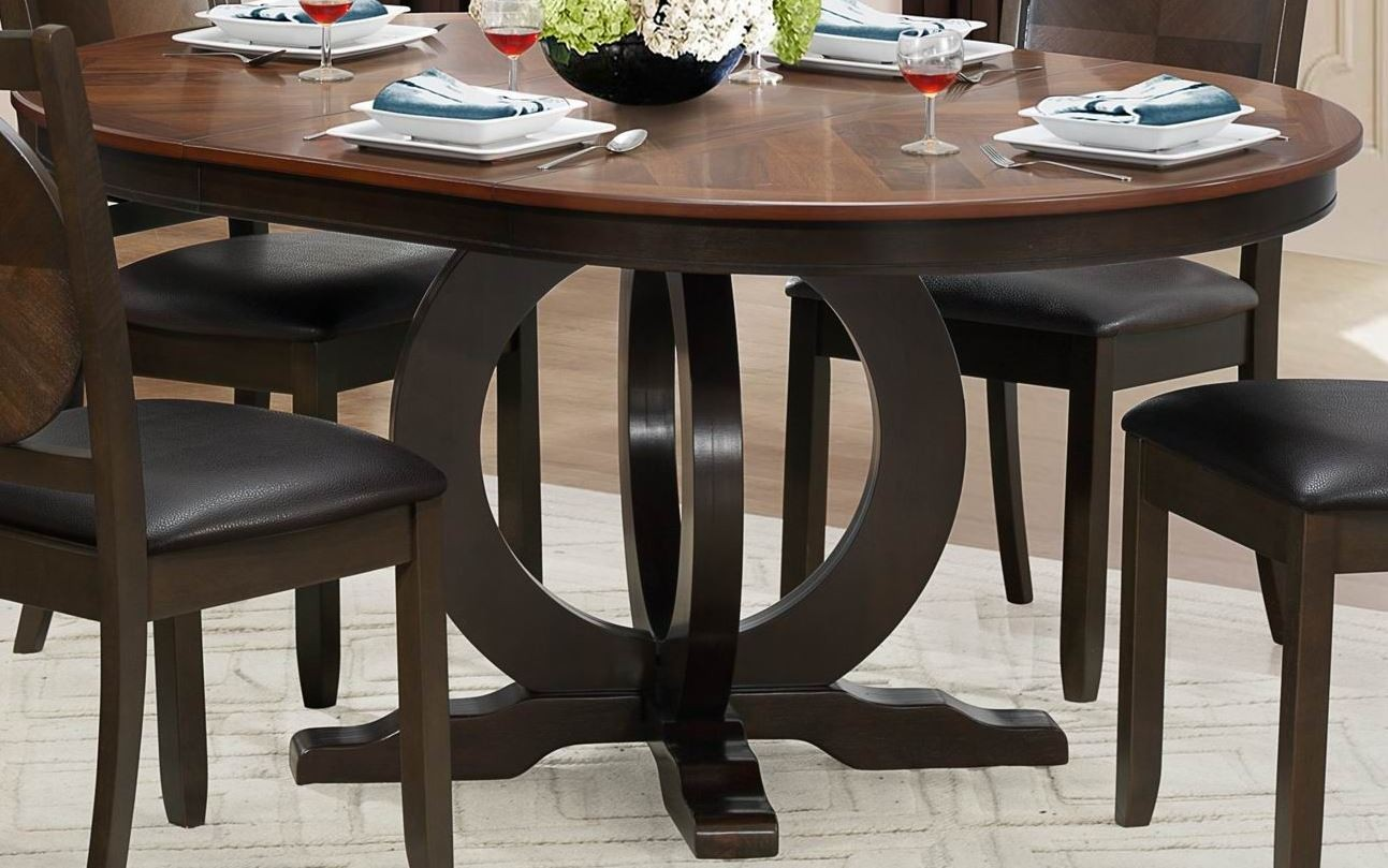 Turing Dark Brown Uv Coating Top Extendable Round Oval