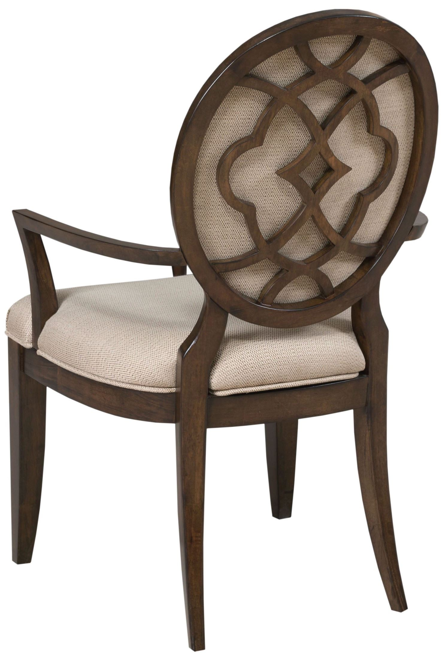 Decorative Arm Chairs ~ Grantham hall deep coffee decorative upholstered arm chair