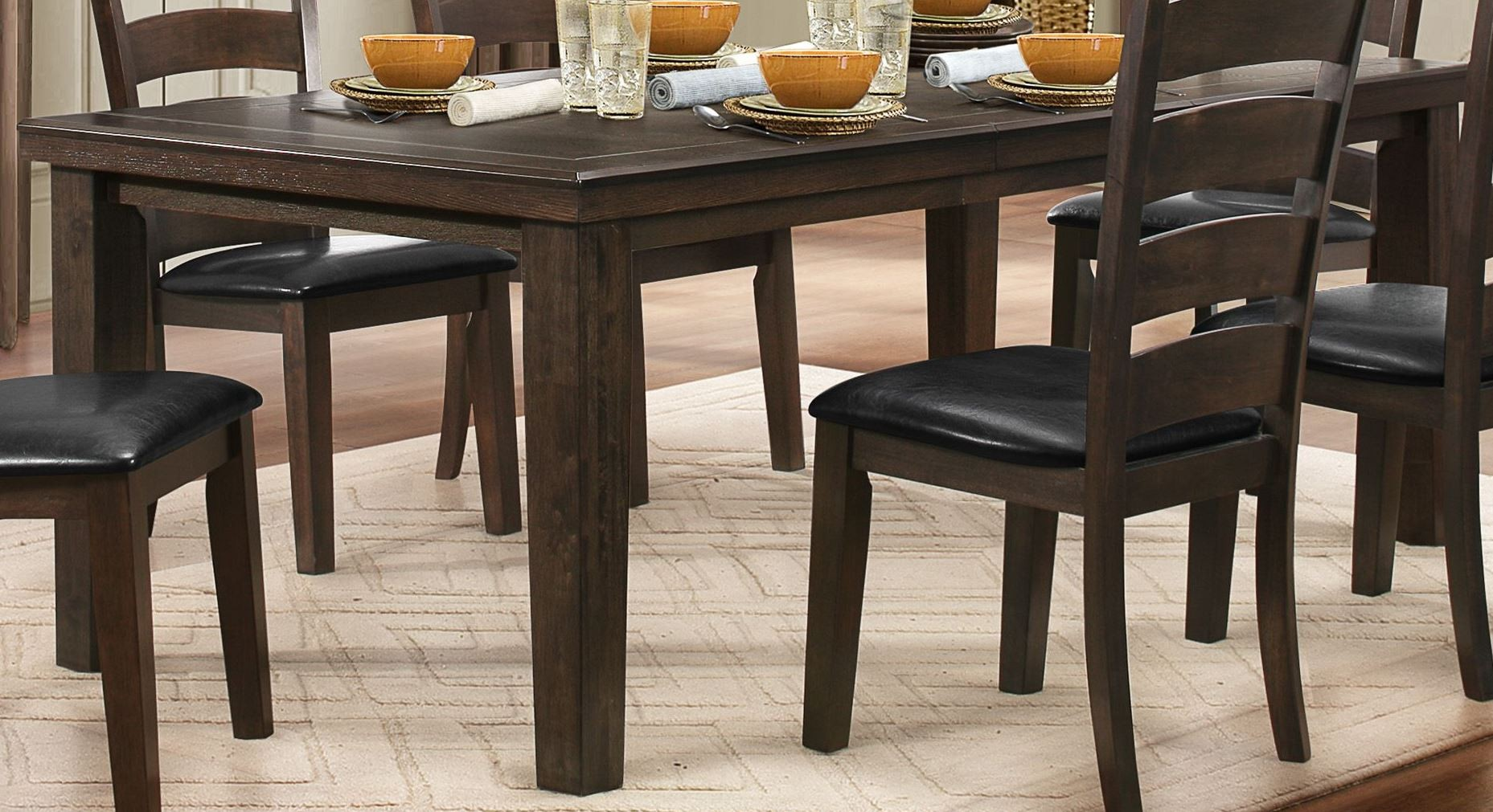 Pacific Grove Brown Extendable Dining Table From Homelegance 5141GY 80 Co