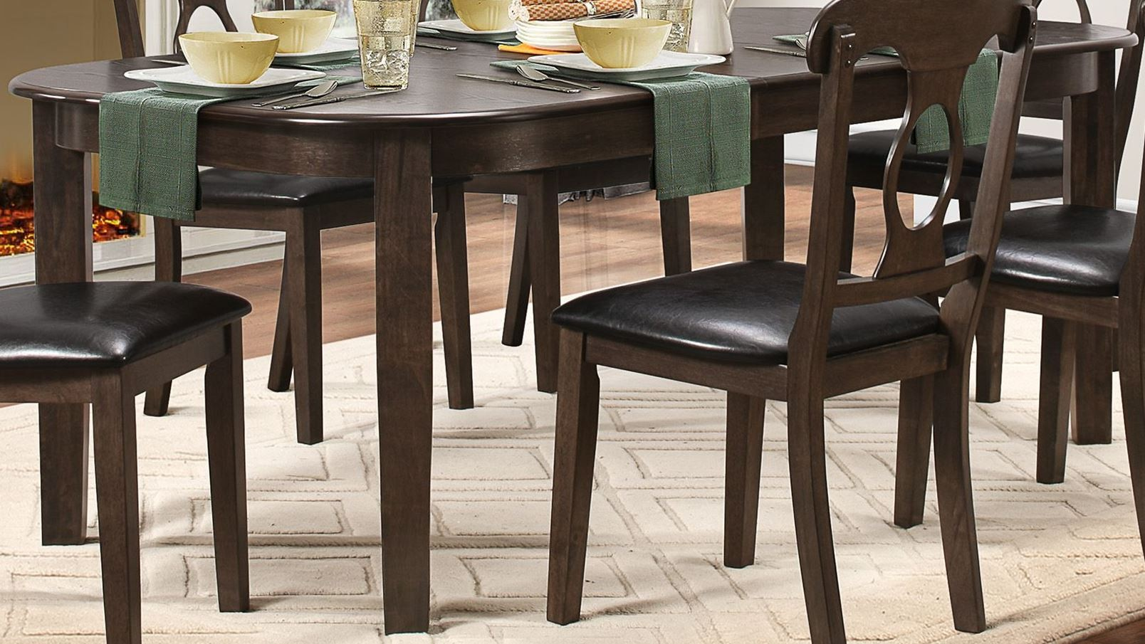 Lemoore Weathered Brown Extendable Dining Room Set From Homelegance 5144GY