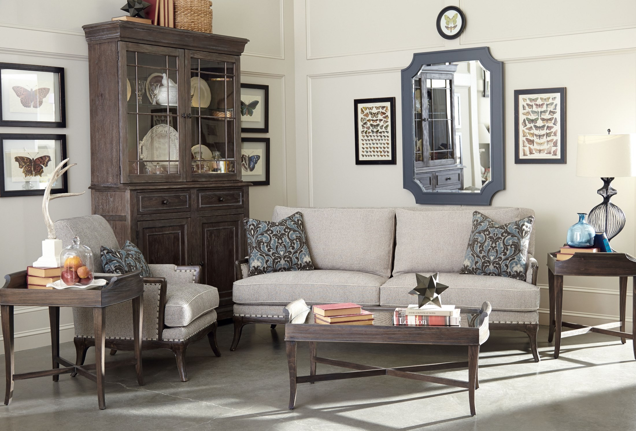 St Germain Siene Pewter Upholstered Living Room Set From Art 515521 5001aa Coleman Furniture