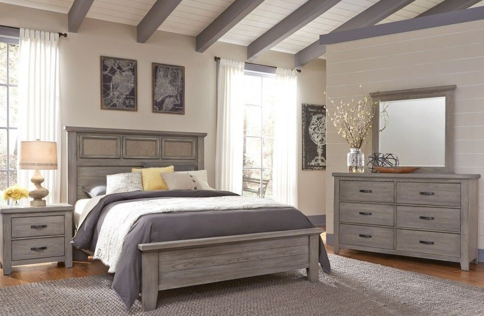 Weathered Gray Bedroom Furniture : Cassel park weathered gray tile bedroom set