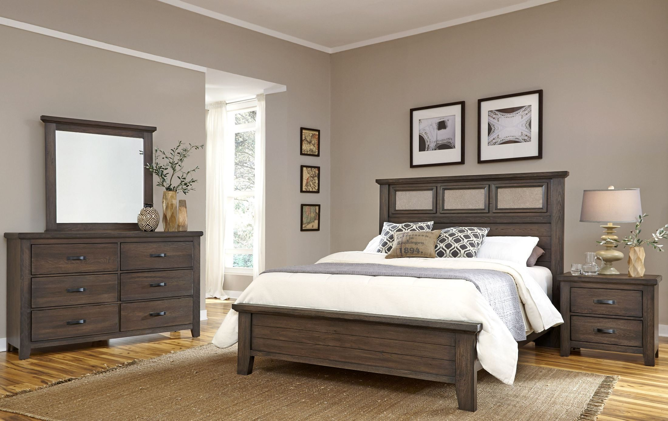 Cassel Park Rich Cocoa Tile Bedroom Set 518 559 855 922 Vaughan Bassett