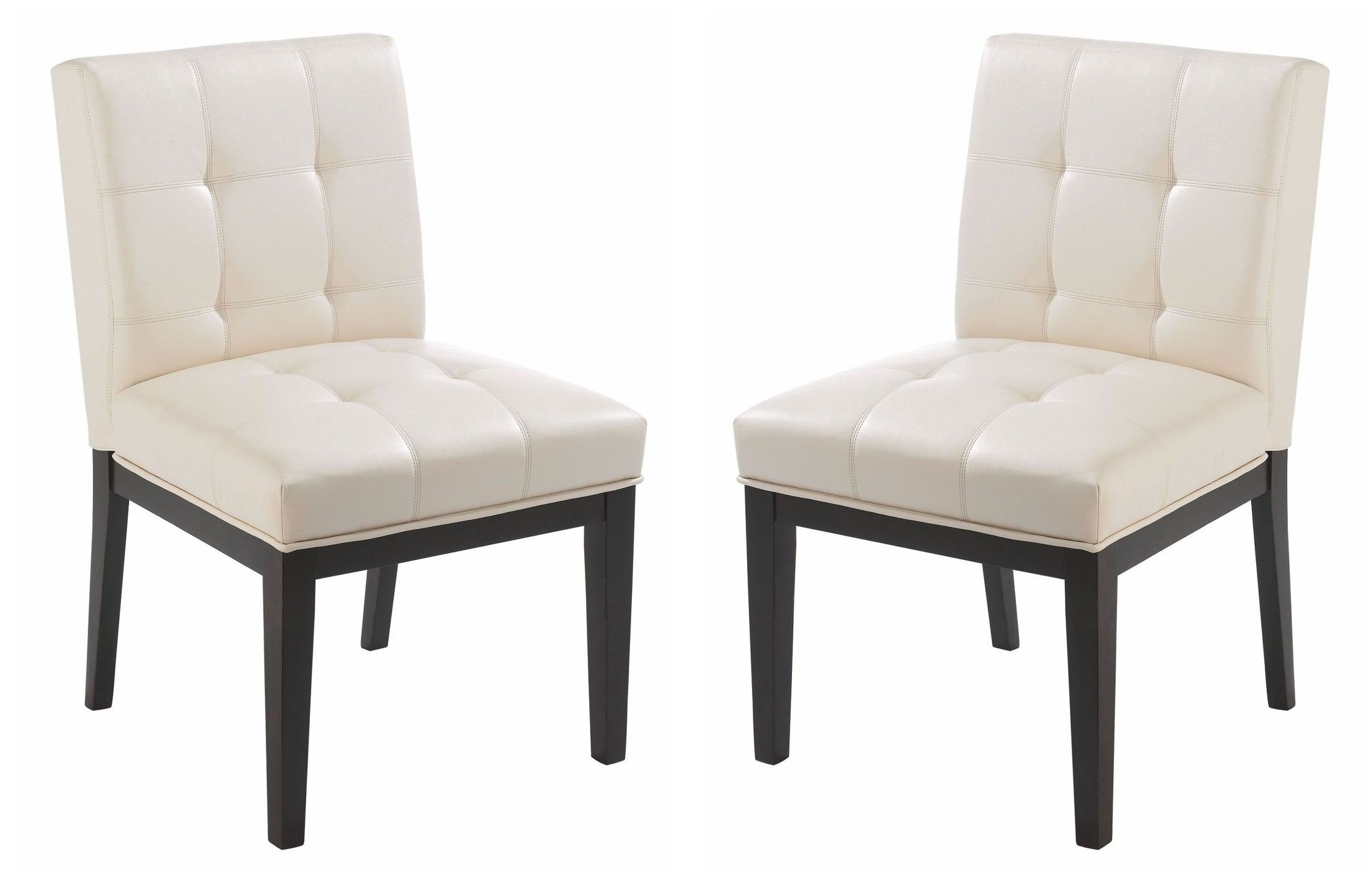 Felicia Cream Faux Leather Dining Chair Set Of 2 From
