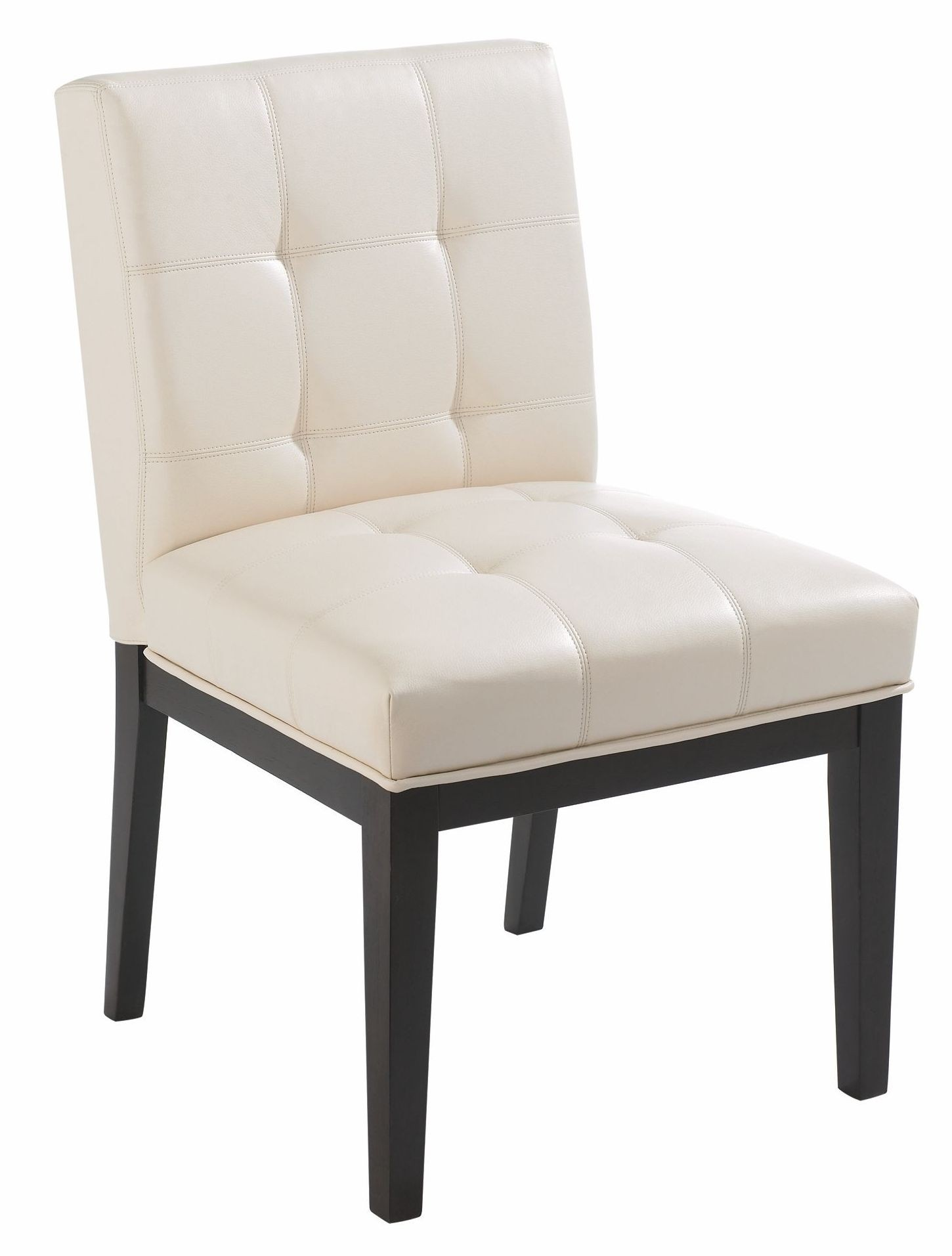 felicia cream faux leather dining chair set of 2 from sunpan 52313