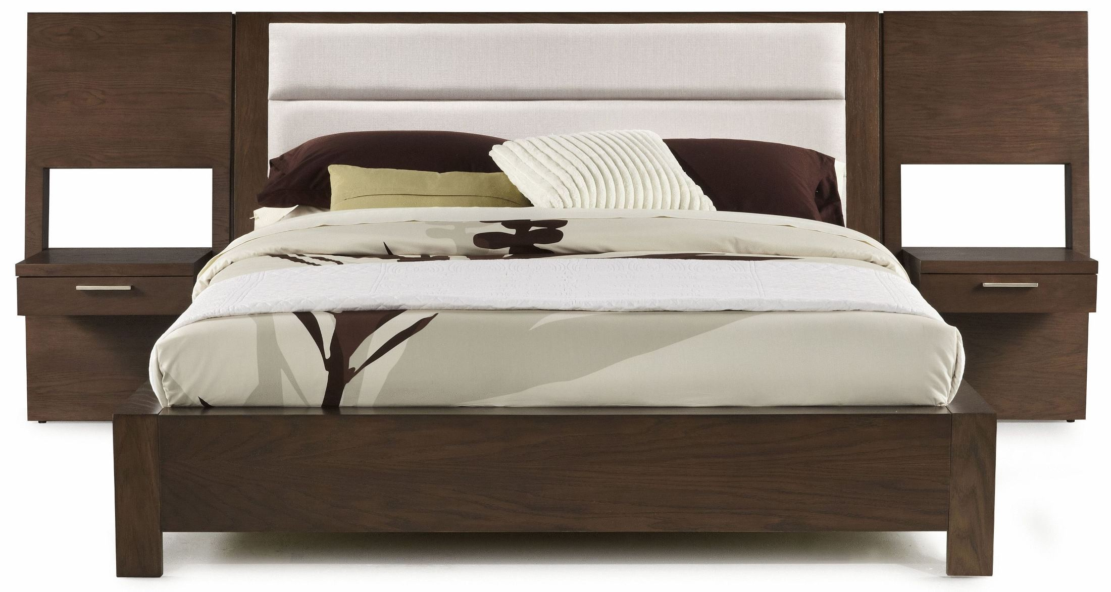 Hudson Upholstered Platform Bedroom Set With Panel Nightstands From Casana 525 908kq Coleman